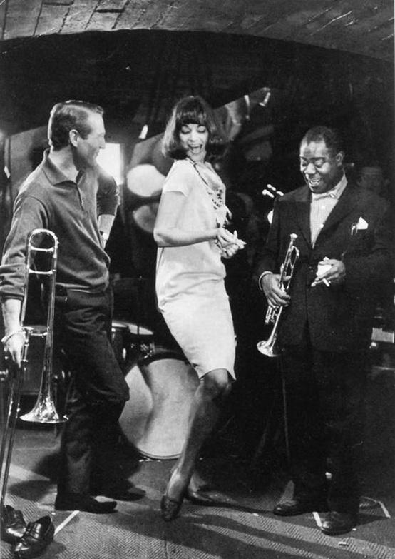 jcine :      Paul Newman & Louis Armstrong, 1961: by Frank Horvat