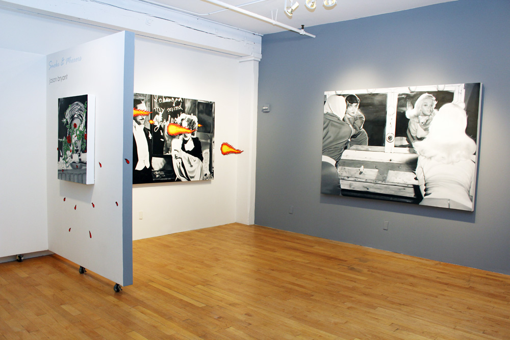 Installation view, Smoke & Mirrors exhibition at Porter Contemporary 2012