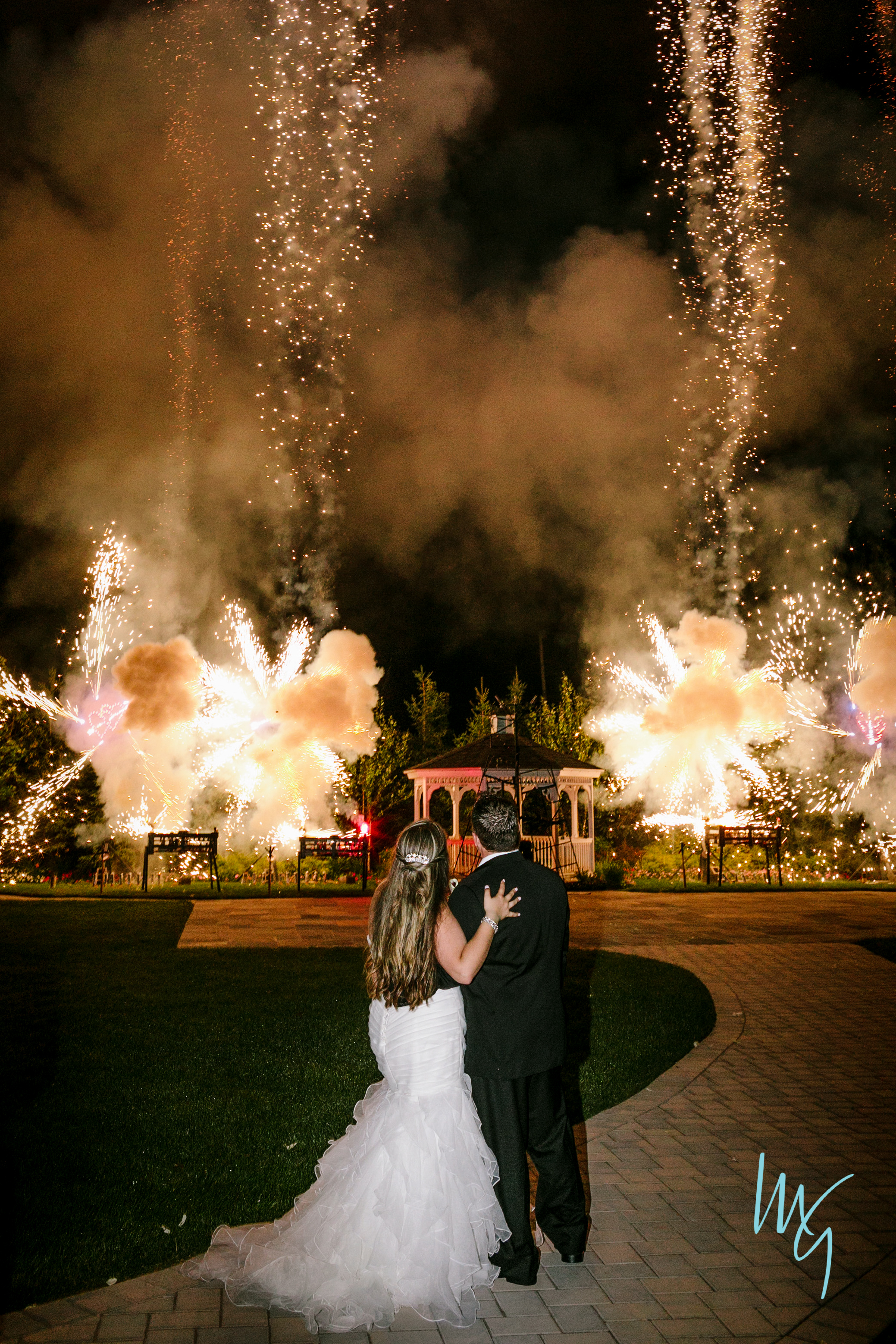Wedding at The Chandelier in Flanders Valley in Flanders, NJ -    CLICK PHOTO to watch video of a Proximate display.
