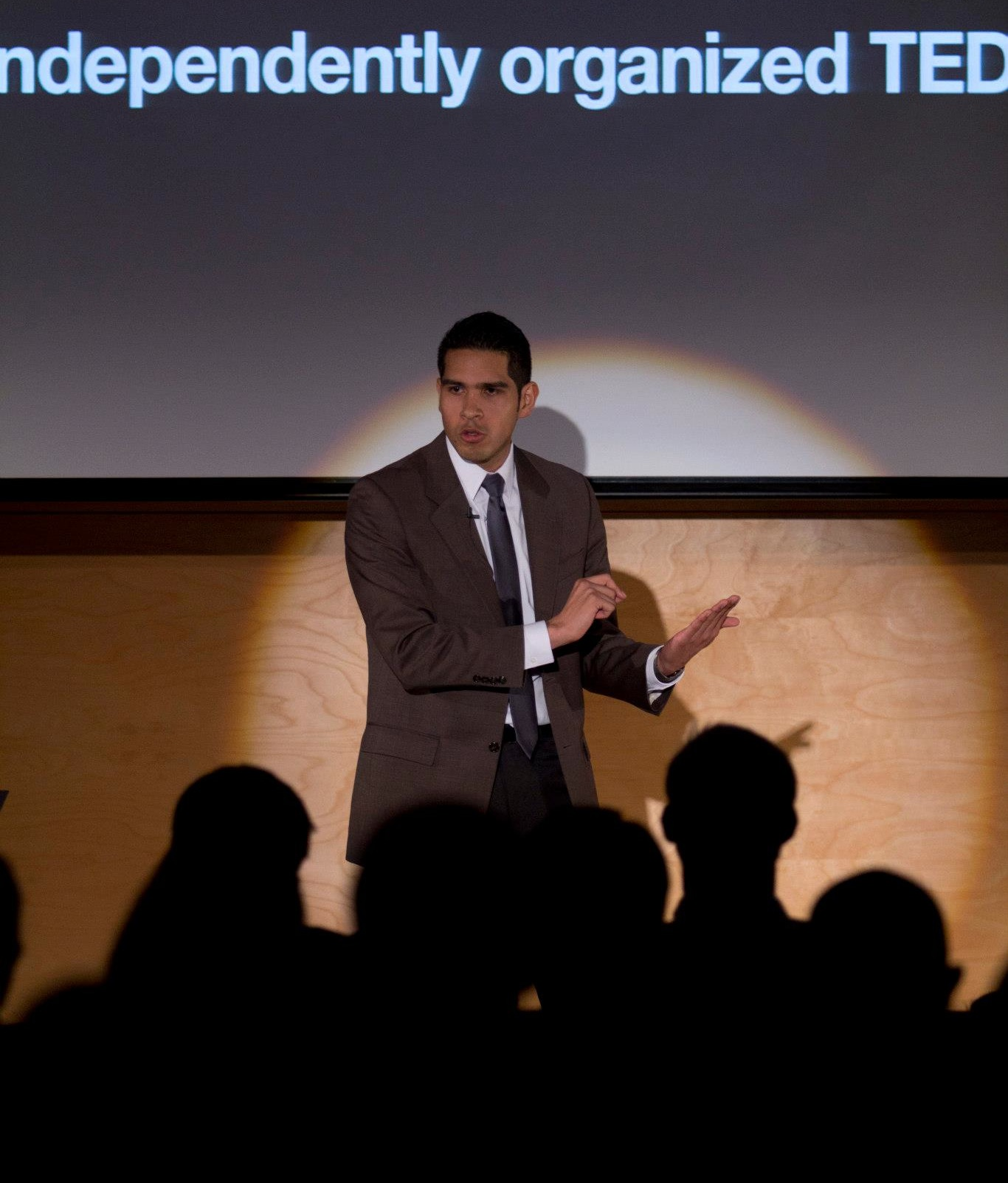 Luis speaking about the Power of Possibility at the 2013 TEDx UofW: Elements of Transition.
