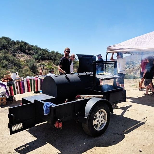 Amazing time at the @papa_mckay_ estate yesterday. And a pretty successful maiden voyage for the new smoker/grill rig. Friends, family, food, guns 🇺🇸☀️🔥 #smokedmeat #santamariagrill
