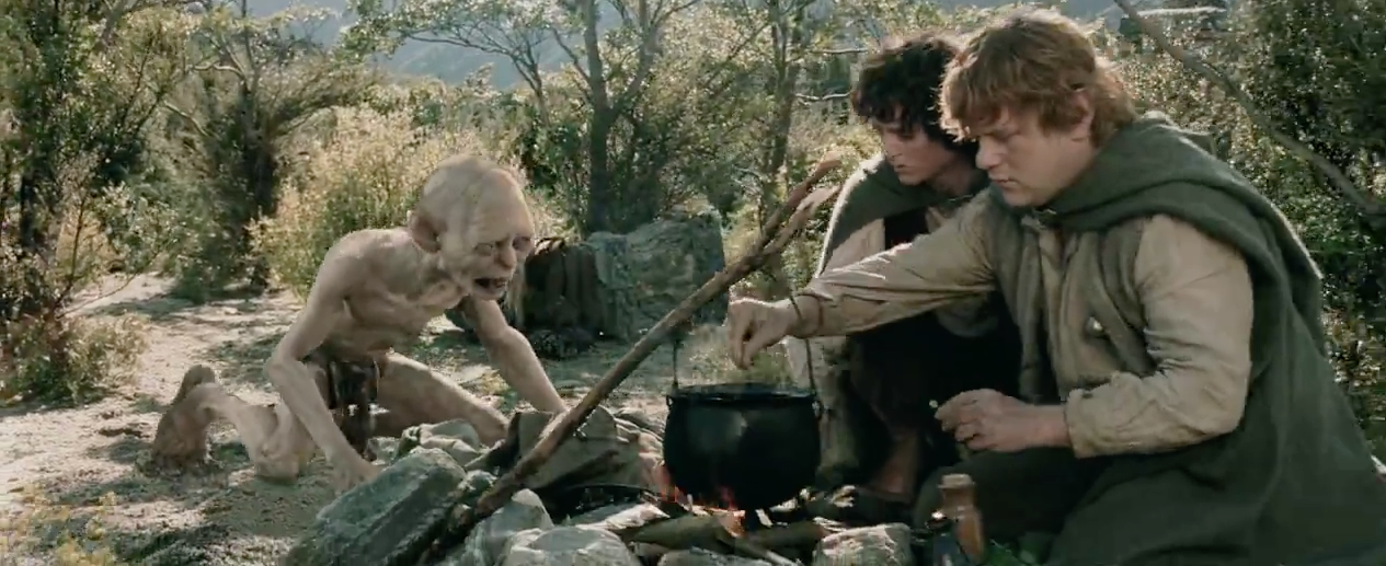 Gollum: Not happy about the stew