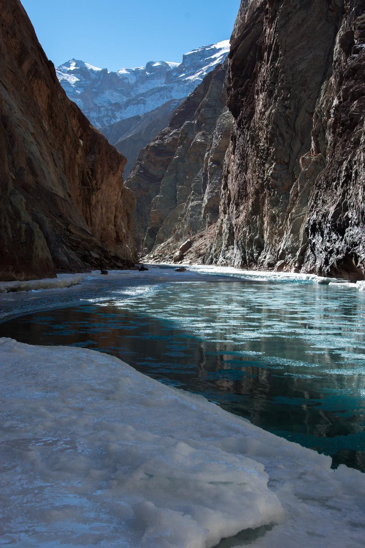 Le Chadar (route de la rivière gelée) au Zanskar