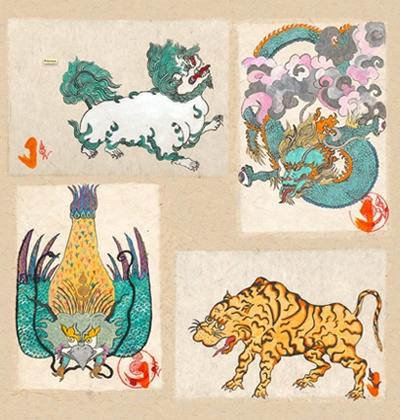 Les quatre créatures surnaturelles
