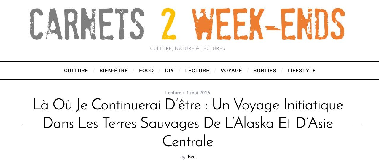Blog Carnets 2 Week-Ends - Mai 2016 (   Lien   )