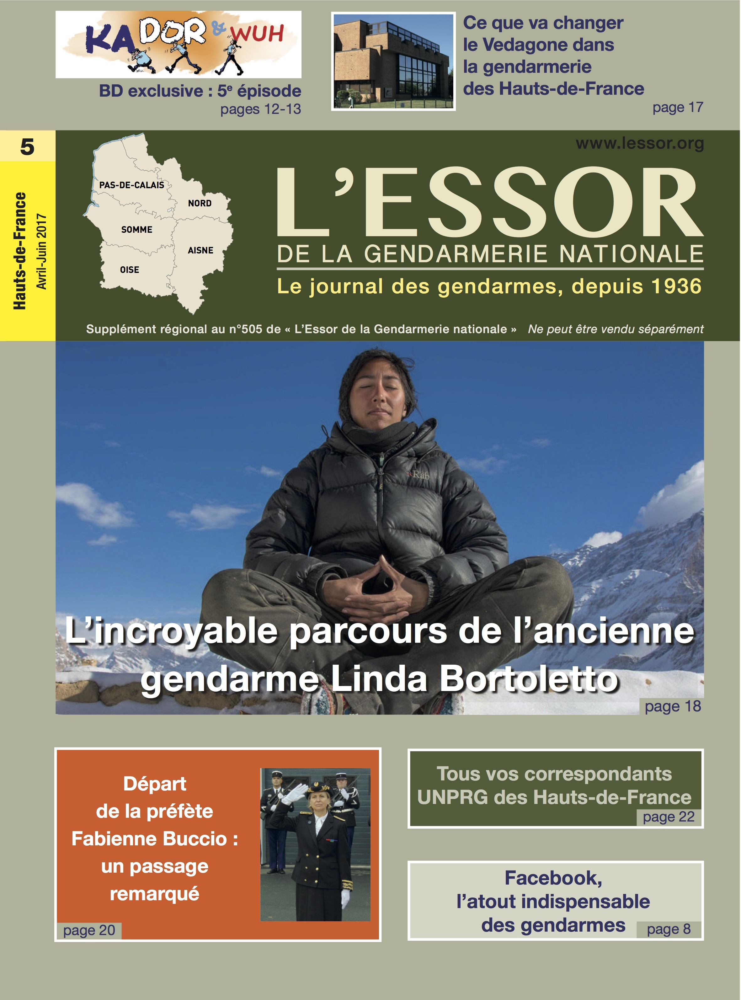 L'Essor de la Gendarmerie - Avril 2017