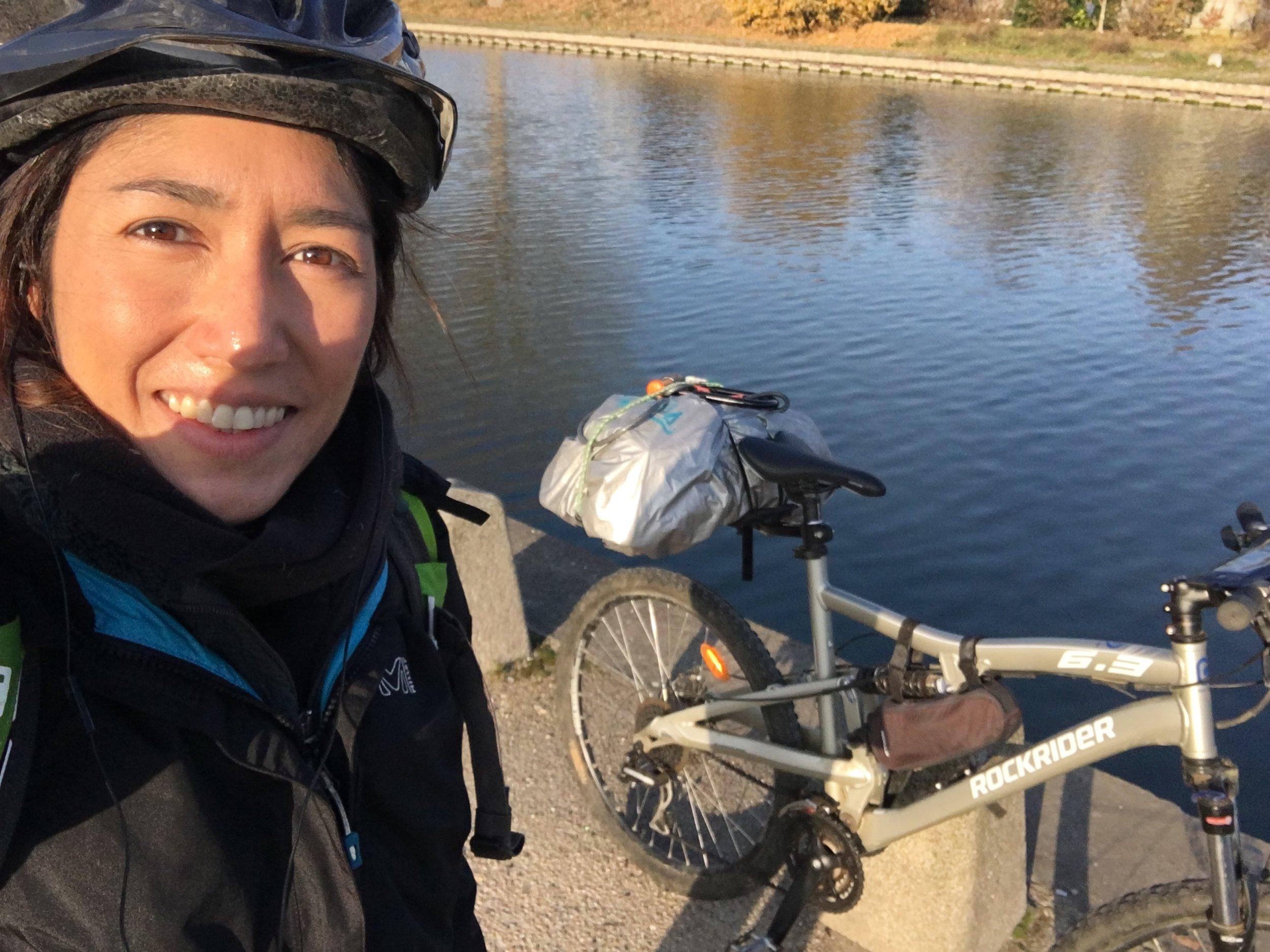 Départ le long du Canal de l'Ourcq ... de bon matin !