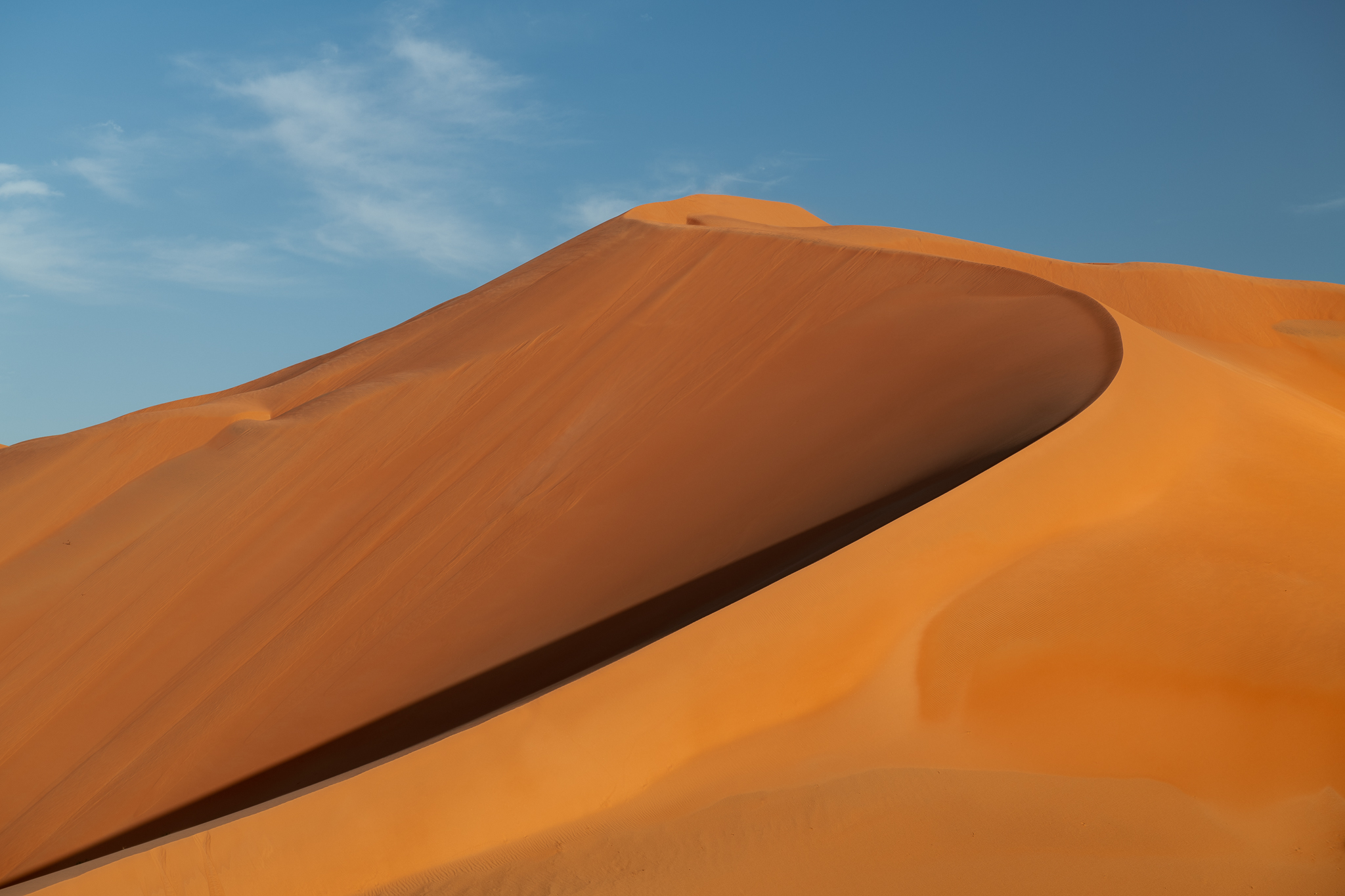 A giant dune in Rub Al Khali, about 200' tall…screensaver style.