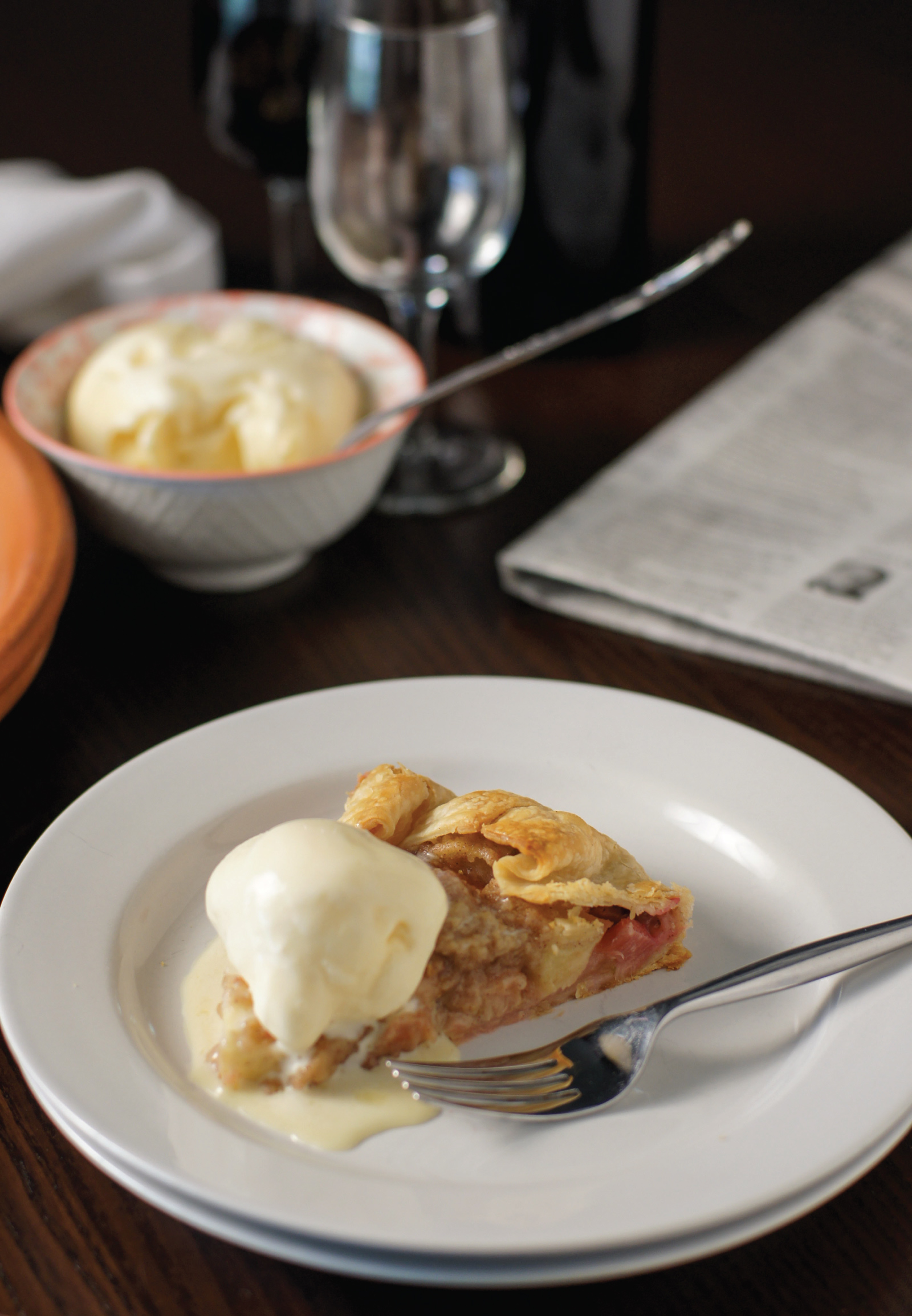 Rustic Apple Rhubarb Crostata from Sam Henderson of Today's Nest