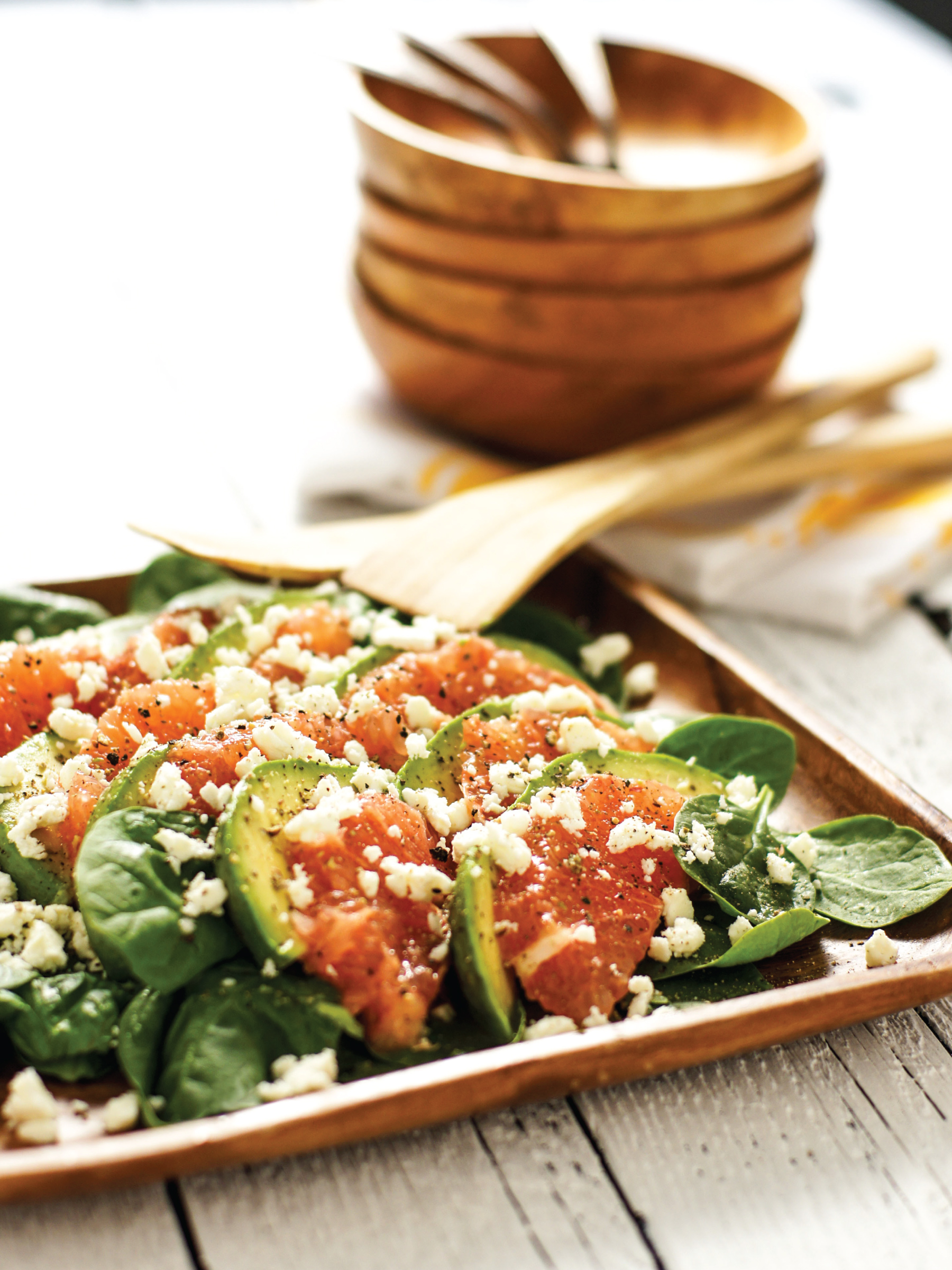Spinach Avocado Grapefruit Salad for HGTV Gardens by Sam Henderson of Today's Nest.