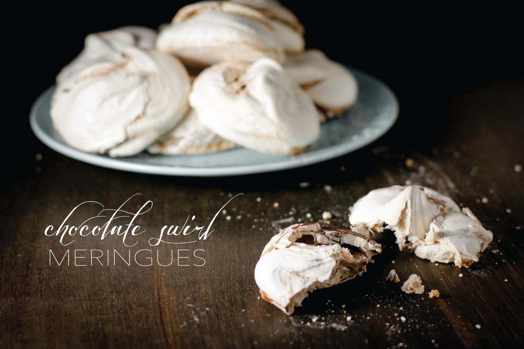 Chocolate Swirl Meringues from Sam Henderson of Today's Nest