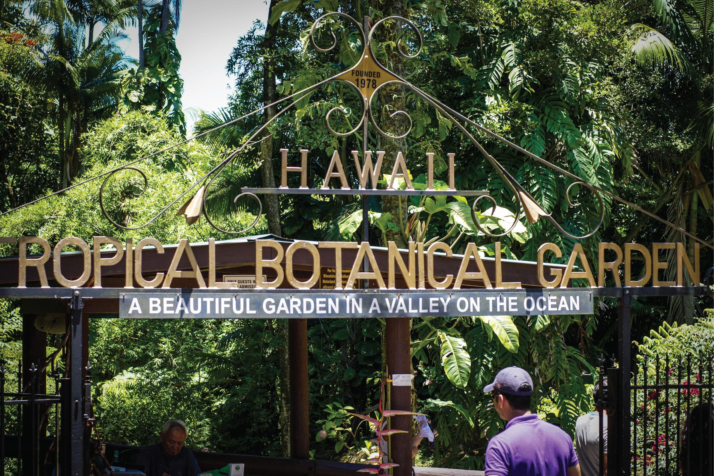 Entrance to the Hawaiian Tropical Botanical Garden
