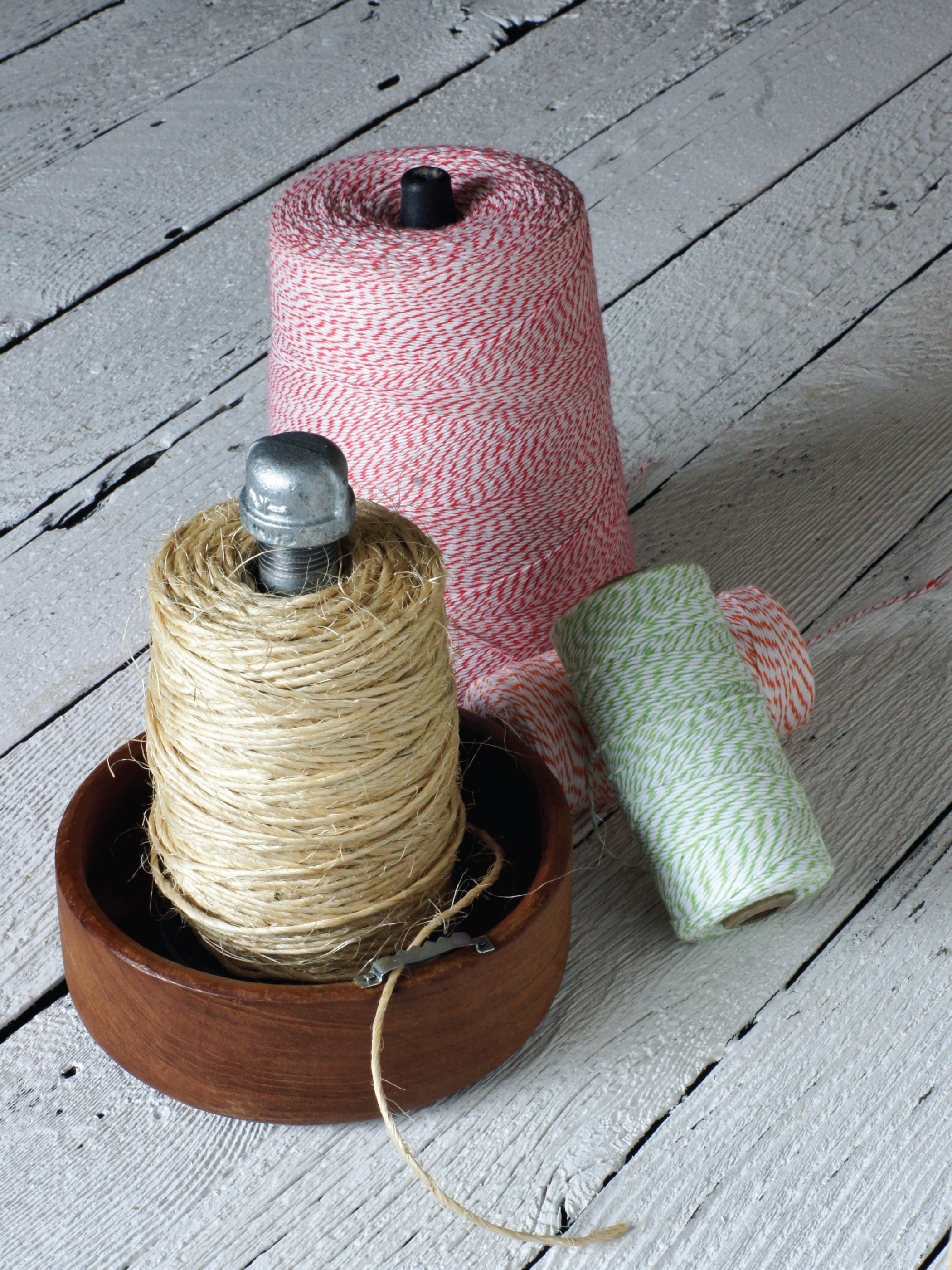 DIY Twine Holder w/Cutter by Sam Henderson of Today's Nest for HGTV Gardens.