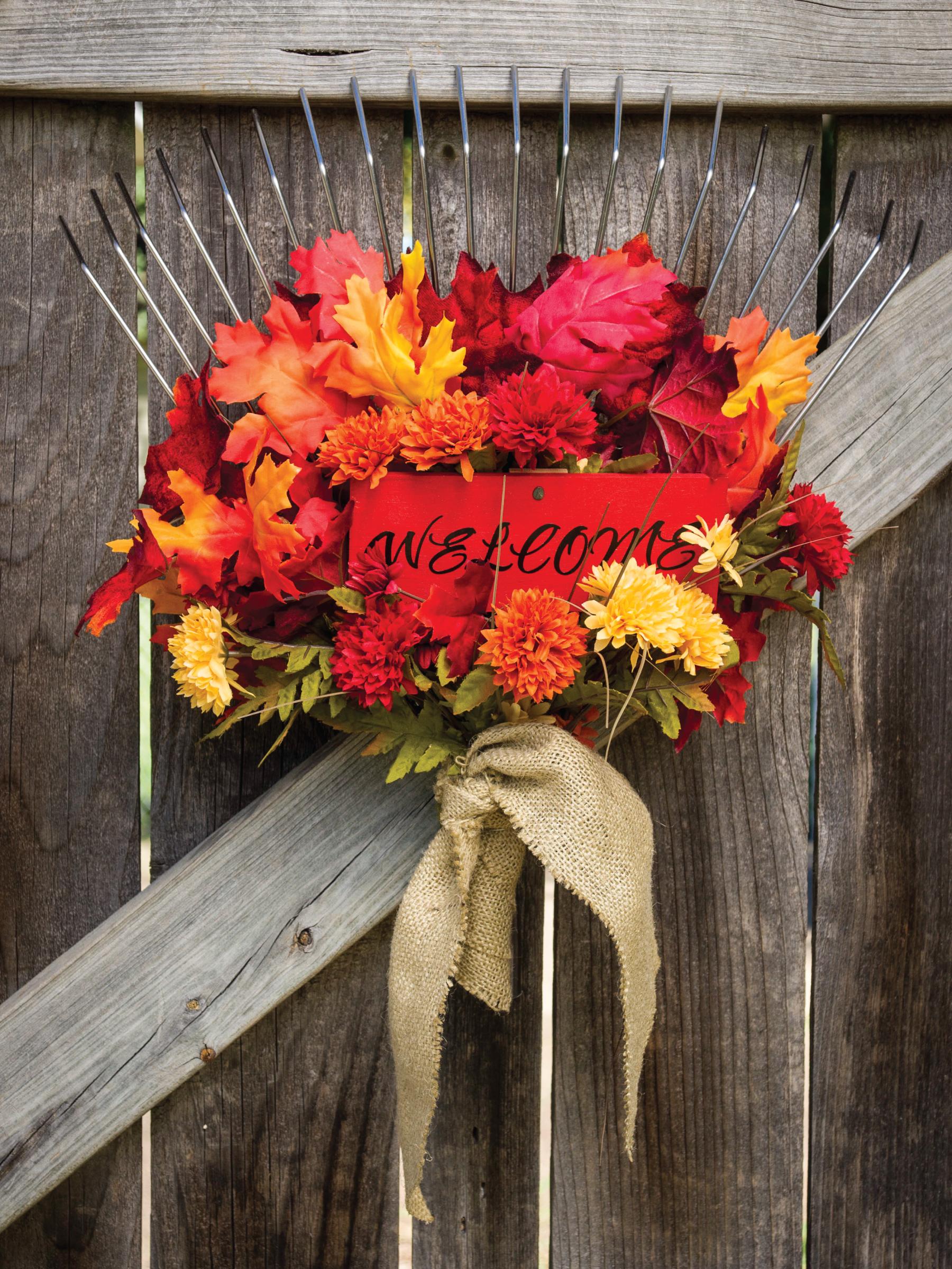 Autumn Garden Gate Decor by Sam Henderson of Today's Nest for HGTV Gardens.