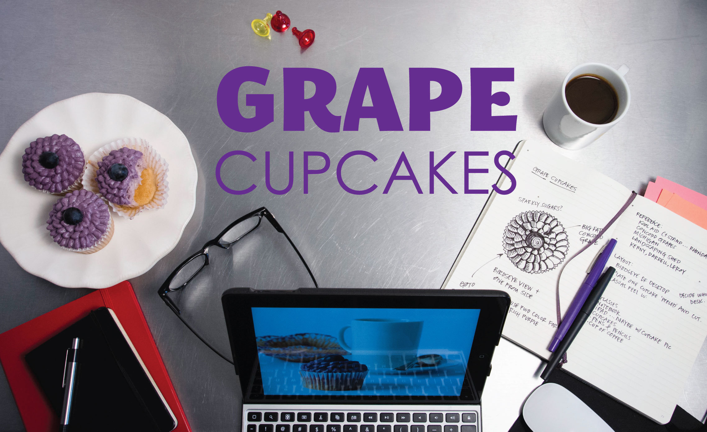 Grape cupcakes from Sam Henderson of Today's Nest.