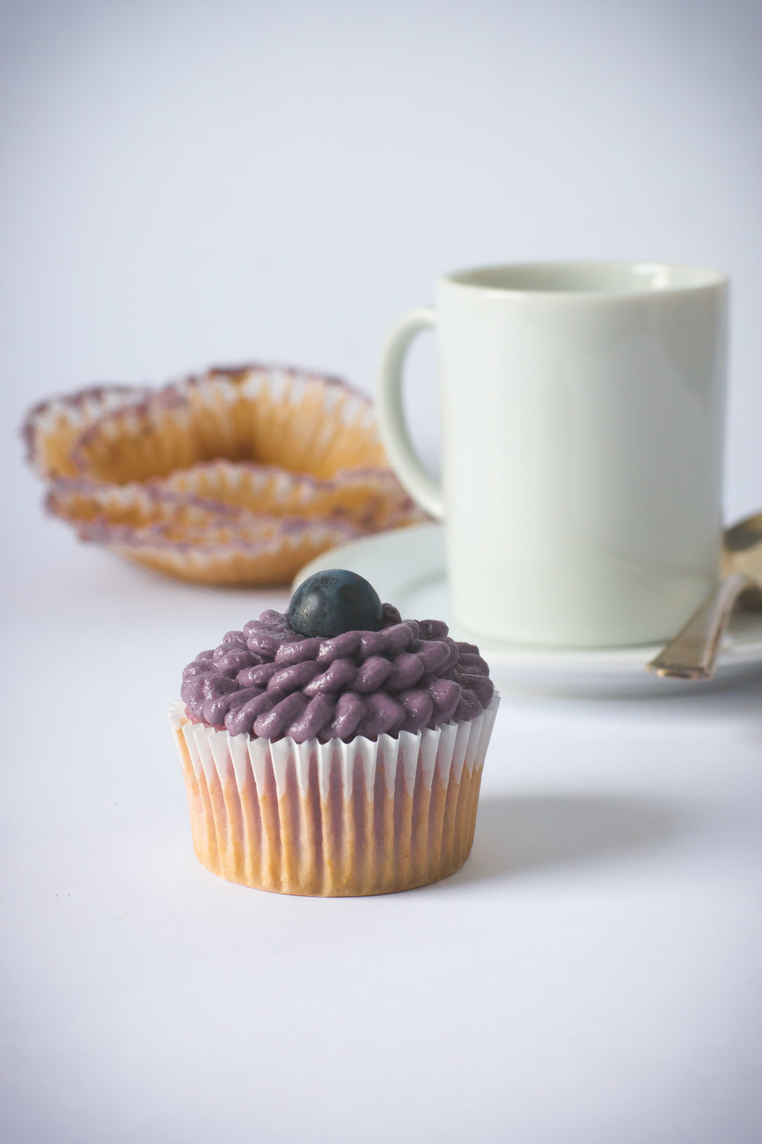 Grape cupcakes from Sam Henderson of Today's Nest