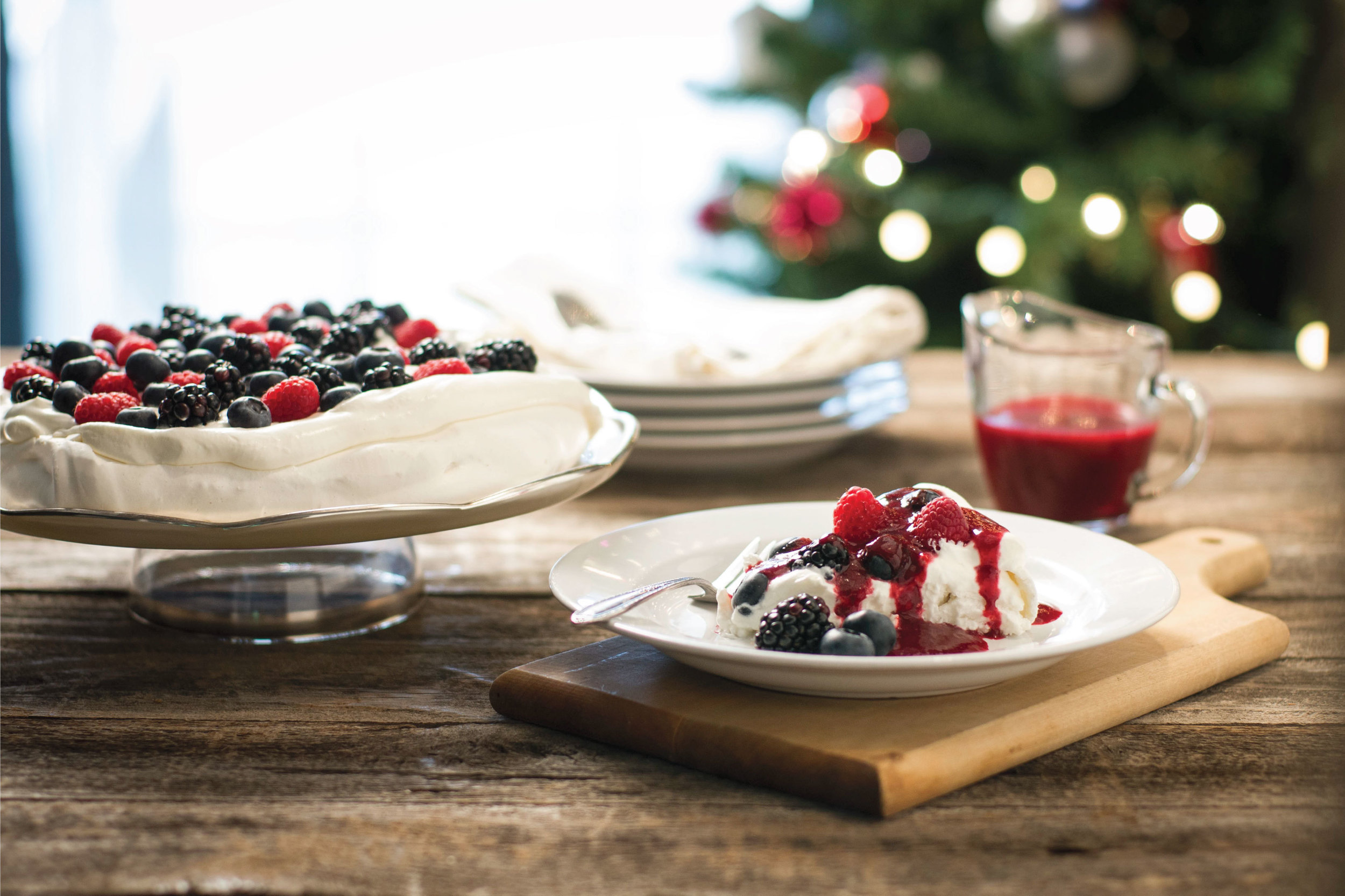 Fresh Berry Pavlova by Sam Henderson of Today's Nest