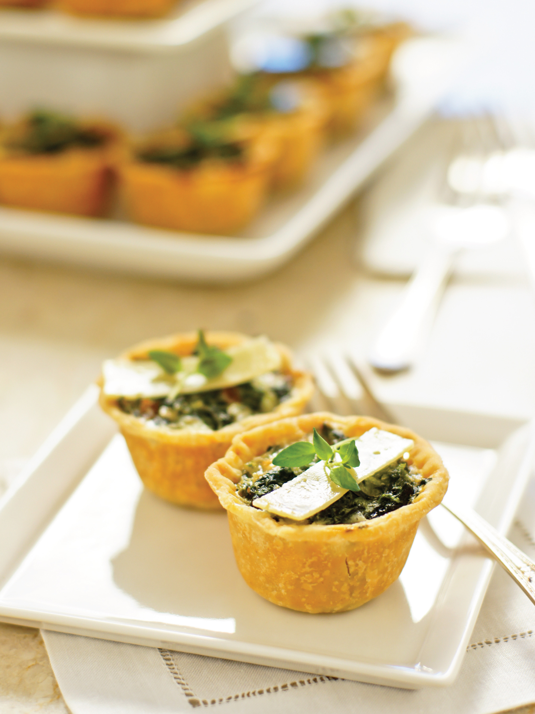 Mini Quiche Florentine by Sam Henderson of Today's Nest for HGTV