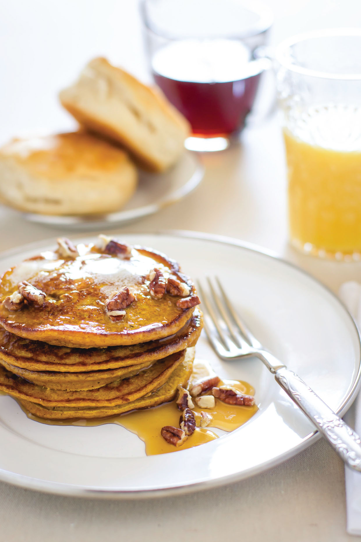 Pumpkin Spice Pancakes by Sam Henderson of Today's Nest