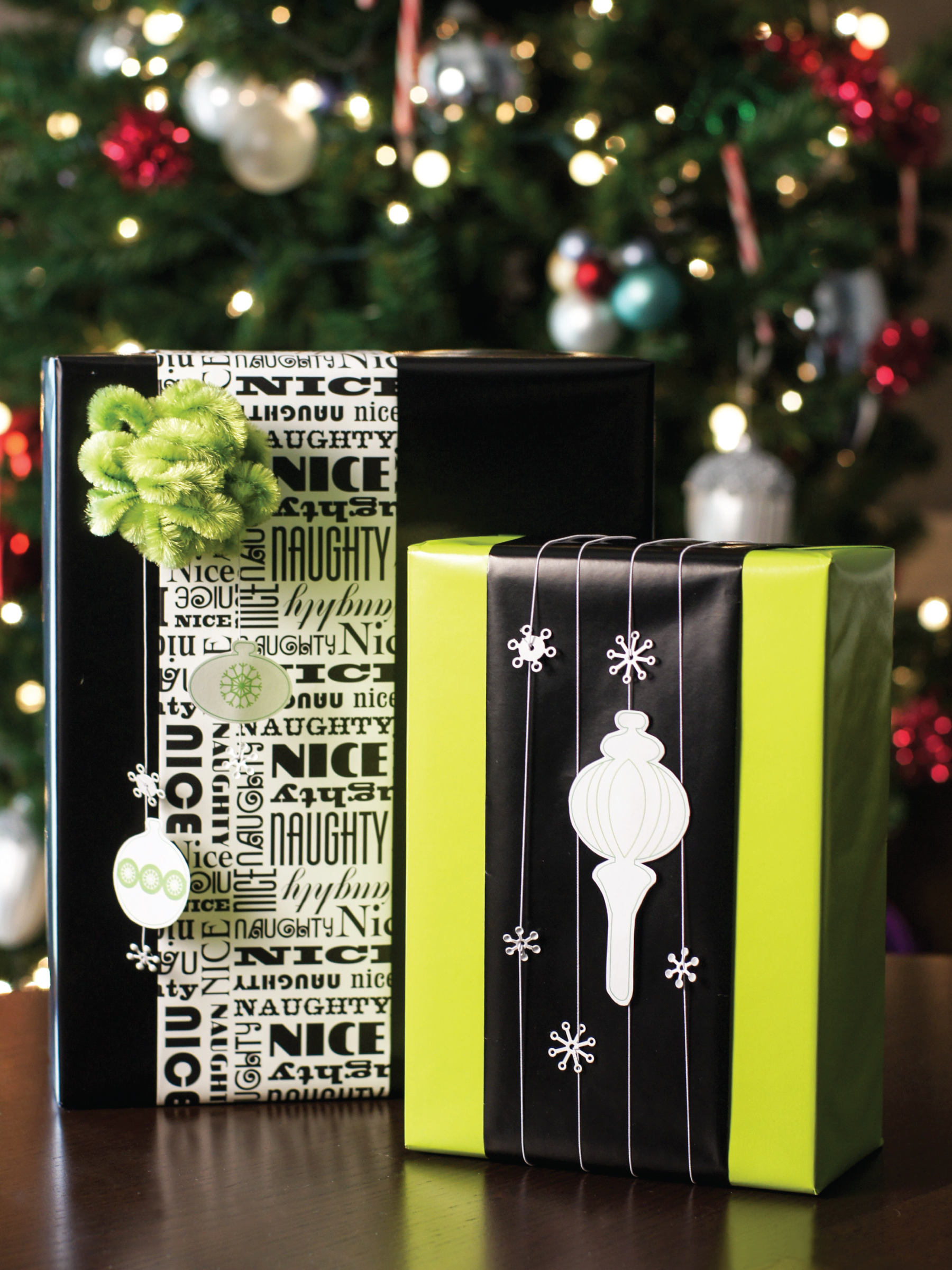 Mod gift wrap by Sam Henderson of Today's Nest for HGTV