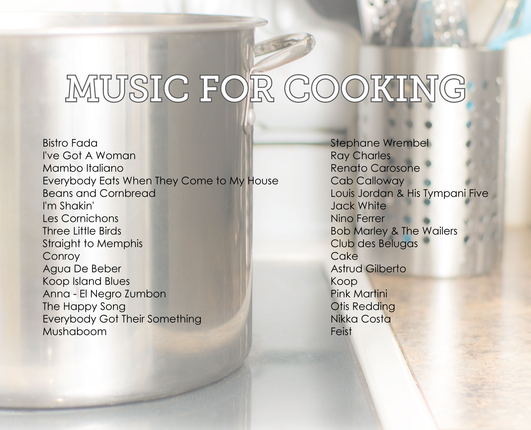 January Playlist... Music for Cooking by Sam Henderson of Today's Nest