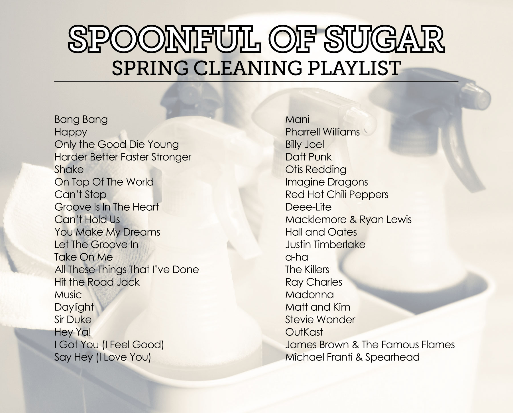 Spoonful of Sugar: Spring Cleaning Playlist by Sam Henderson of Today's Nest