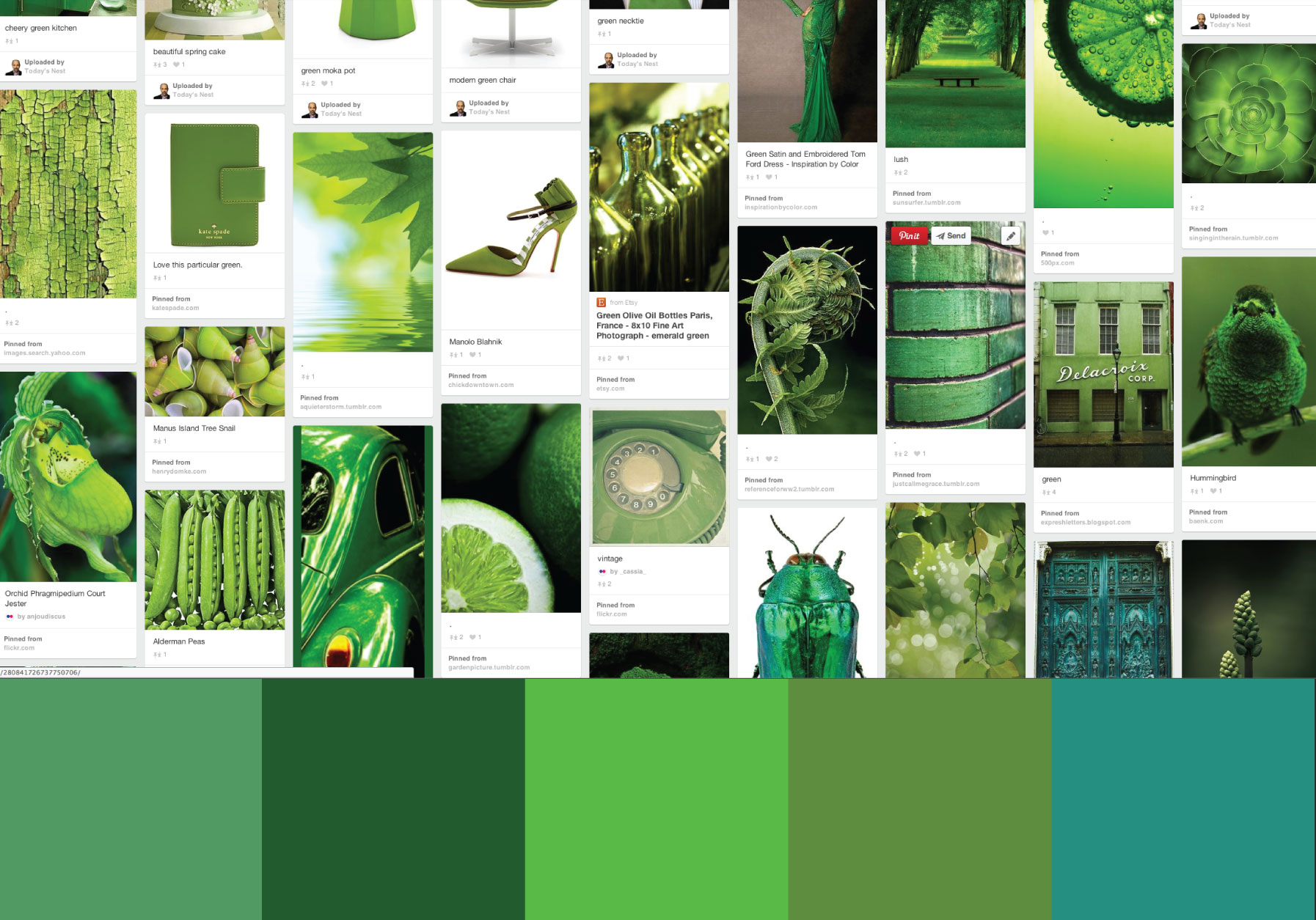 Color Story: GREEN by Sam Henderson of Today's Nest