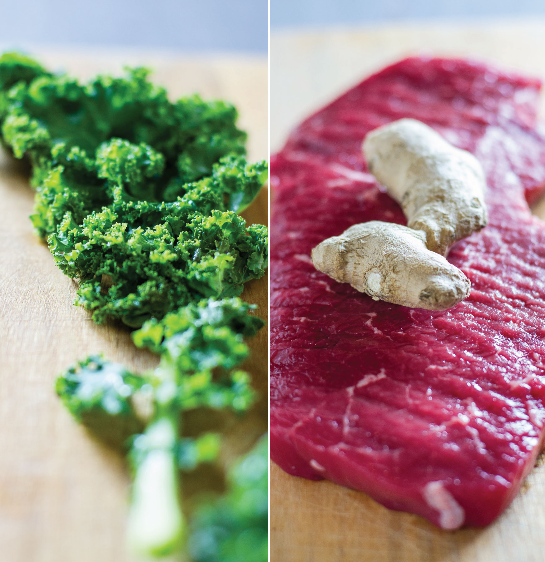 Ginger Beef with Kale and Mushrooms by Sam Henderson of Today's Nest