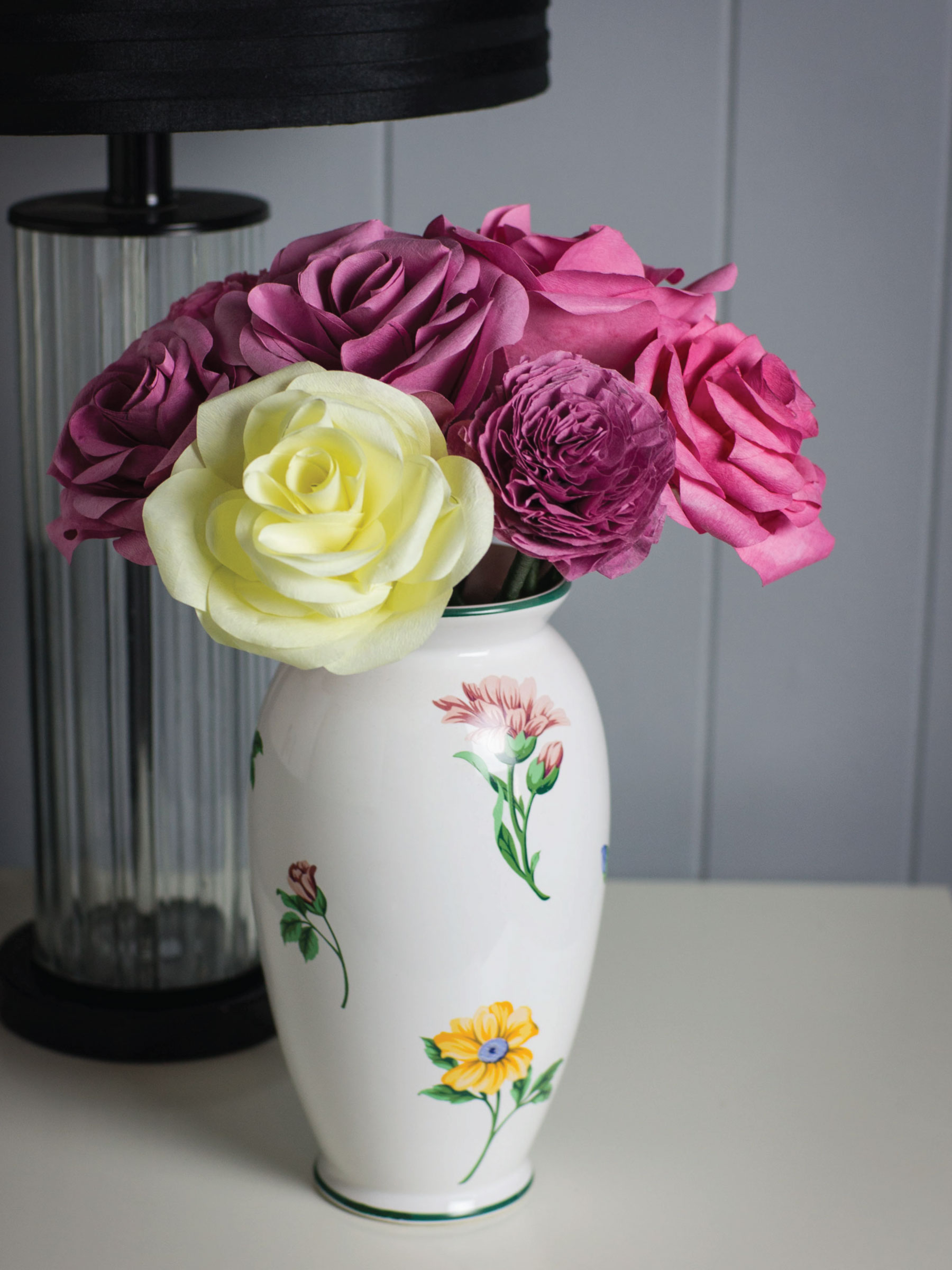 Coffee filter flowers by Sam Henderson of Today's Nest for HGTV Gardens