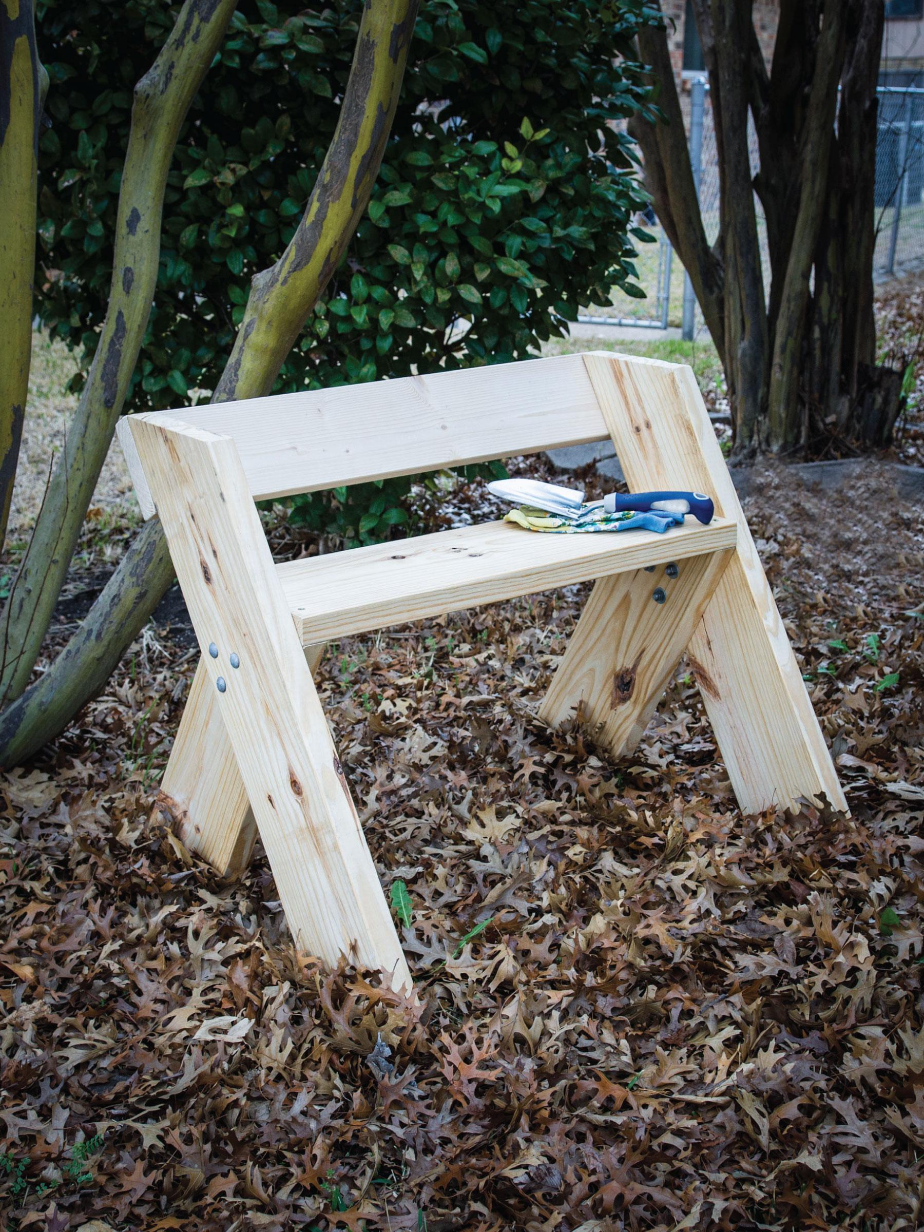 Easy DIY Garden Bench by Sam Henderson of Today's Nest for HGTVGardens