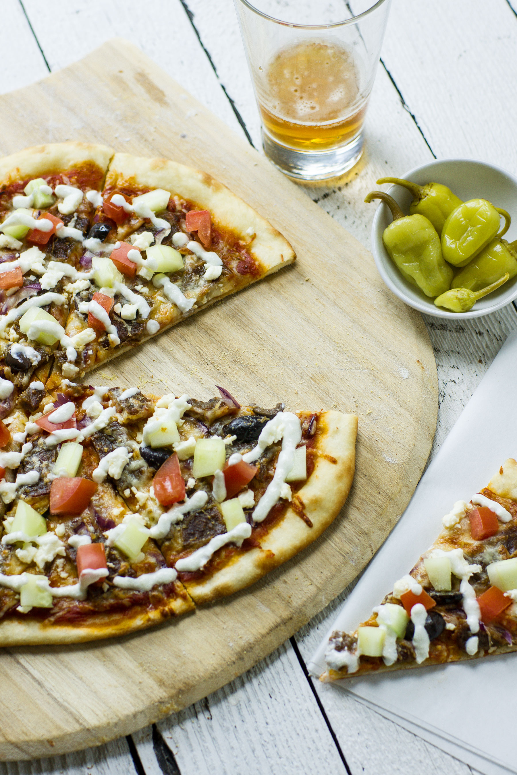 Gyro pizza by Sam Henderson of Today's Nest