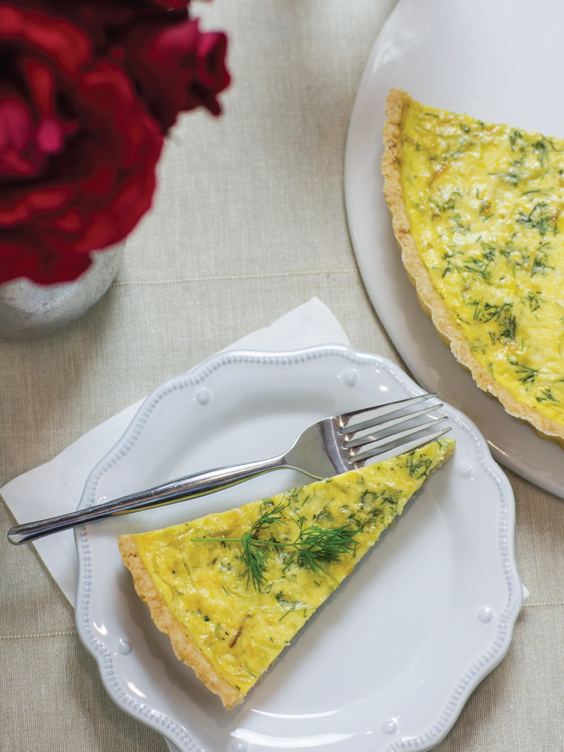 Spring Leek and Dill Quiche by Sam Henderson of Today's Nest for HGTVGardens