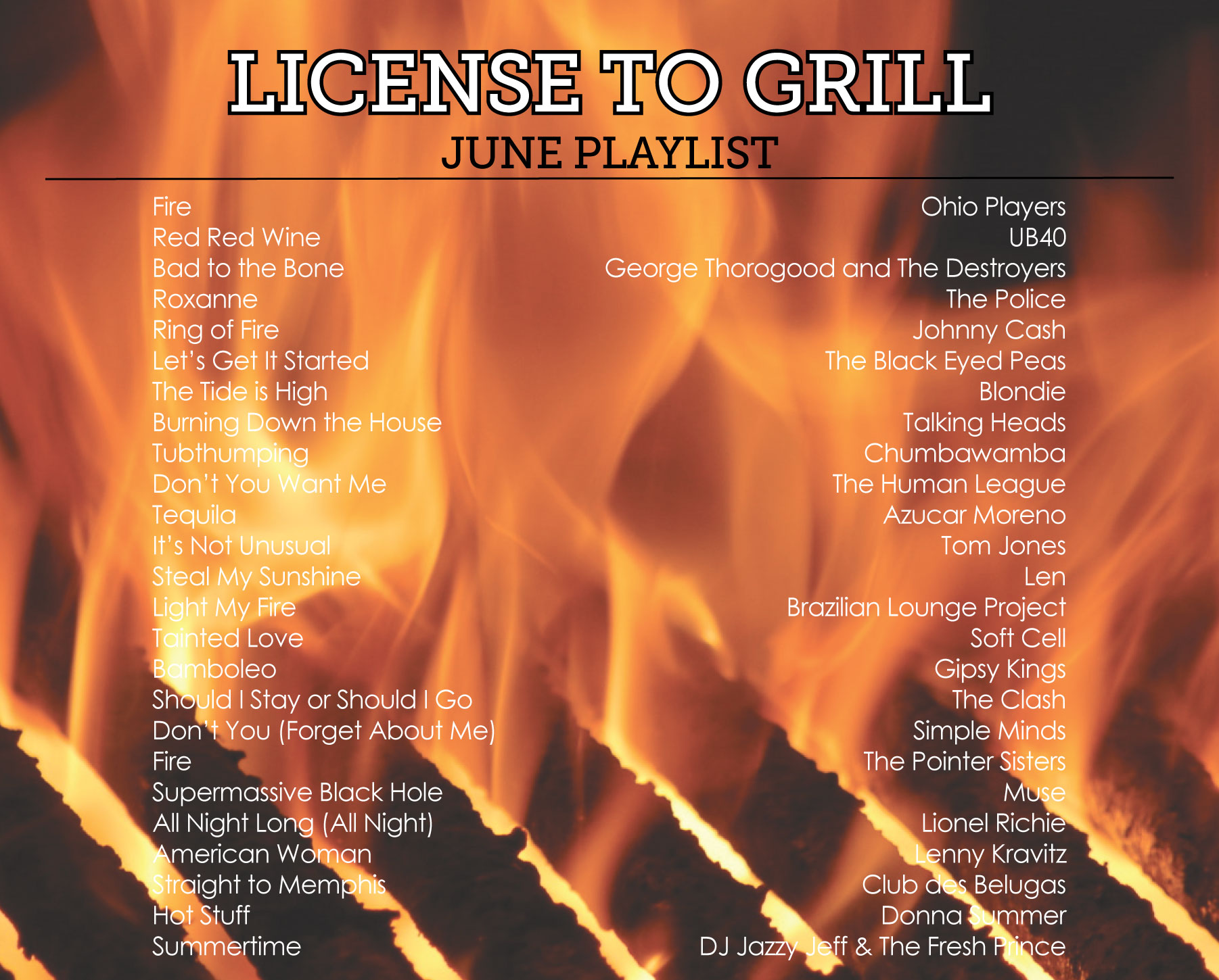 License to Grill Playlist by Sam Henderson of Today's Nest