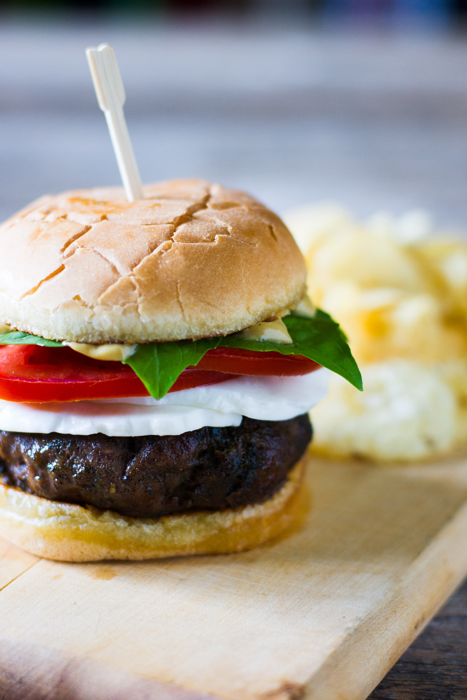 Caprese Burger with Balsamic Aioli by Sam Henderson of Today's Nest