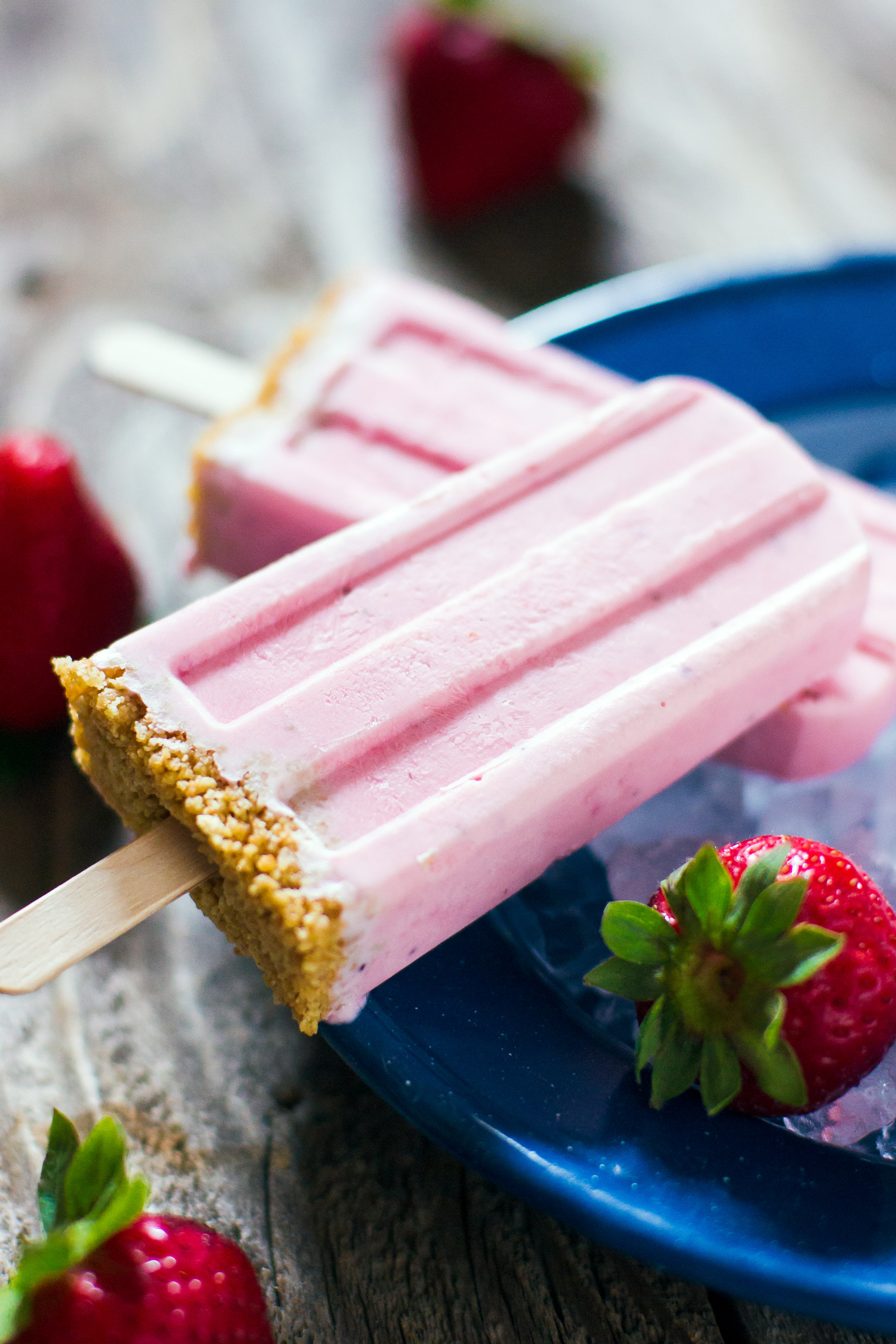 Strawberry Cheesecake Ice Pops by Sam Henderson of Today's Nest