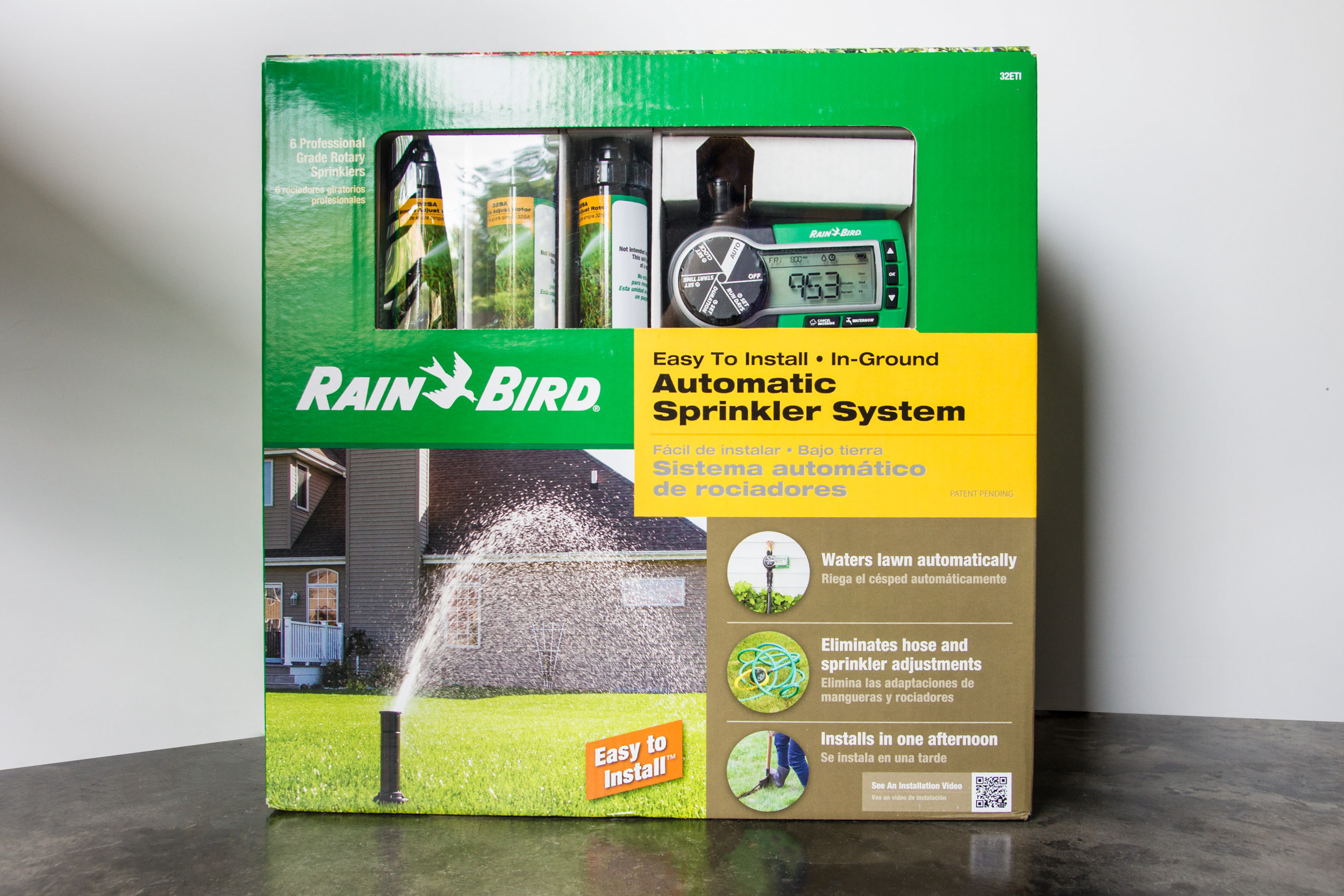 Rain Bird In-Ground Automatic Sprinkler System Easy to Install Attach to Faucet