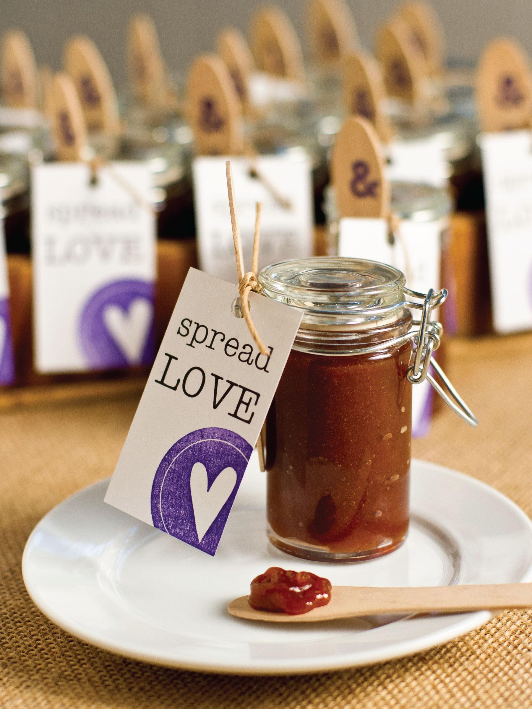 Apple Butter Wedding Favor by Sam Henderson of Today's Nest for HGTVGardens.
