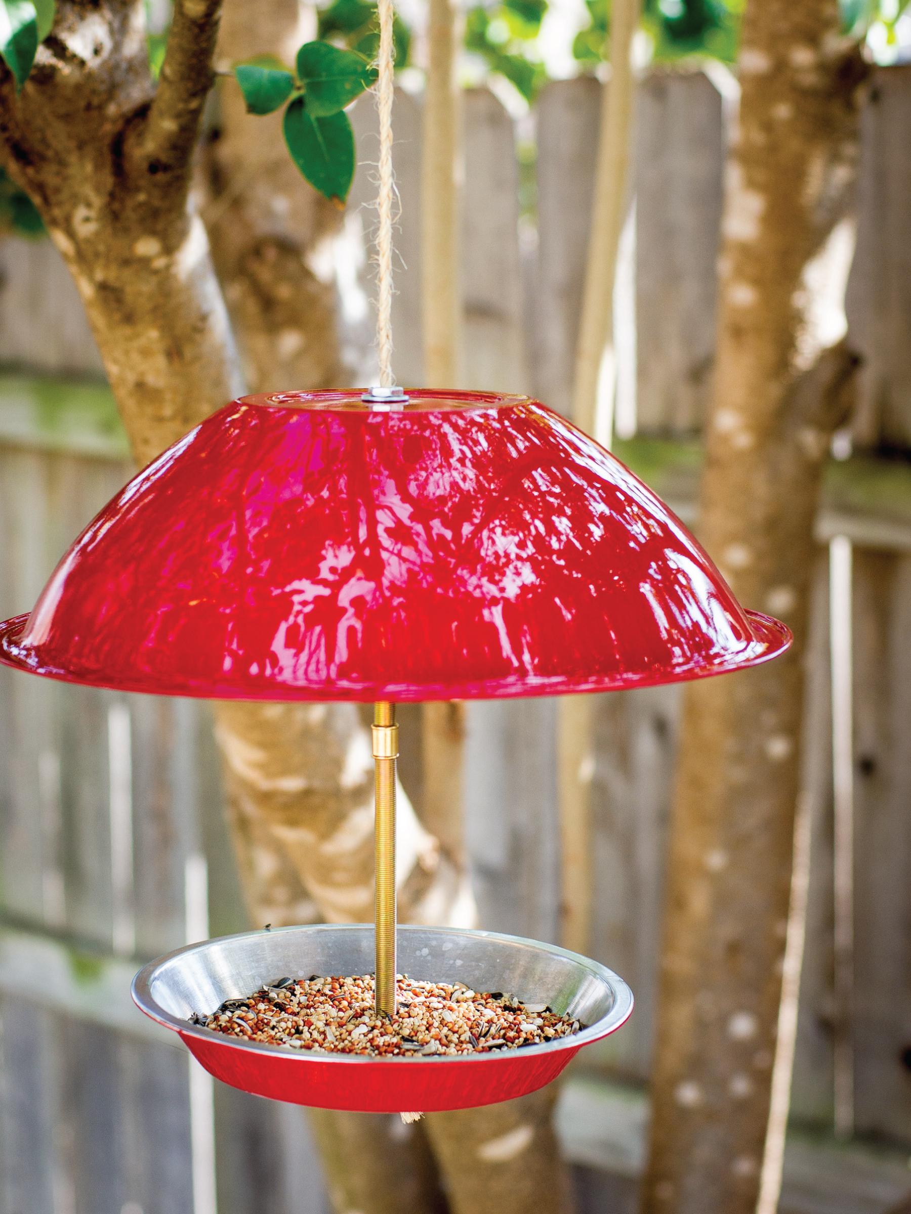 Upcycled Bird Feeder by Sam Henderson of Today's Nest for HGTVGardens.