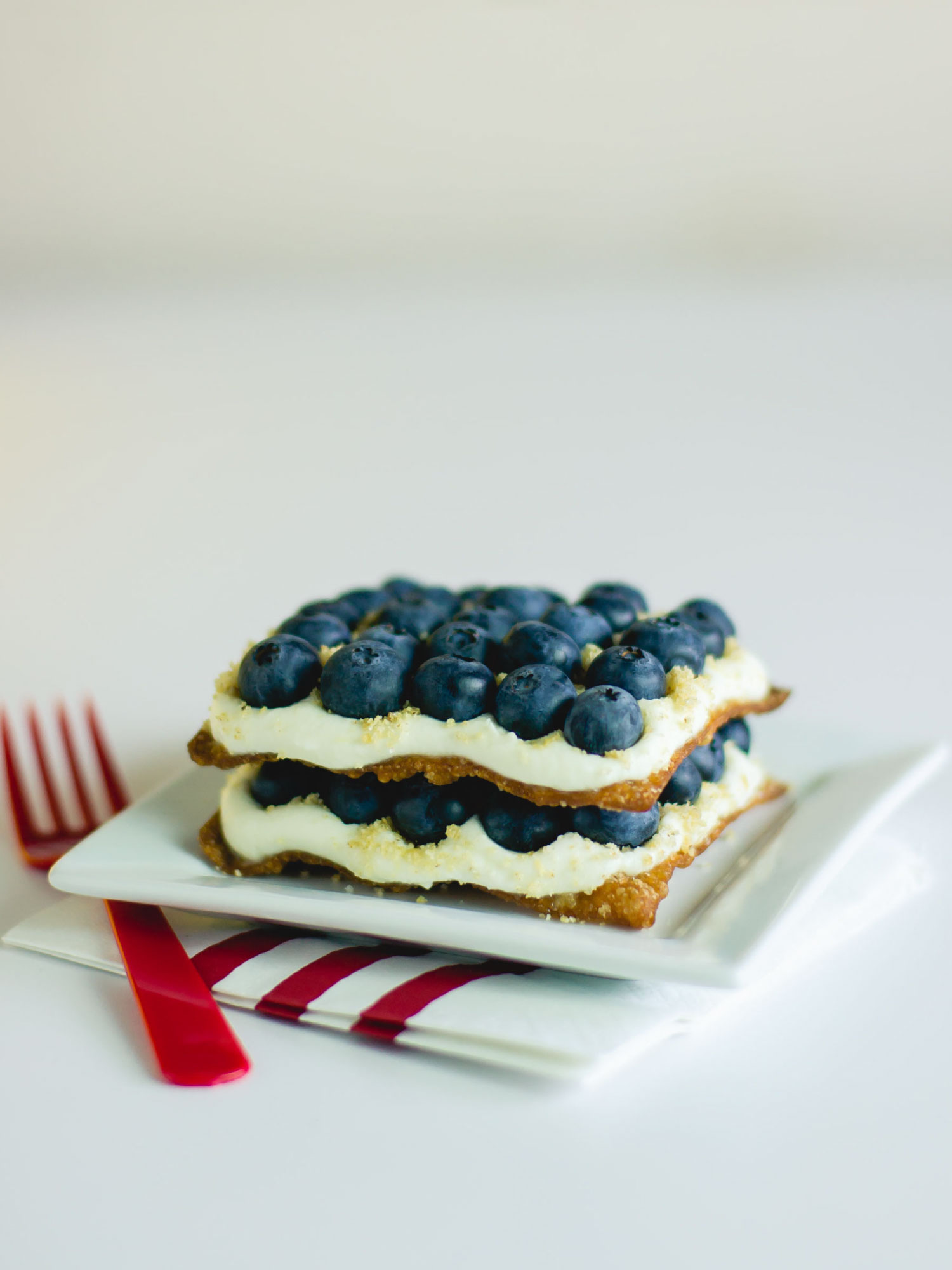 Blueberry Cheesecake Napoleon by Sam Henderson of Today's Nest for HGTVGardens.