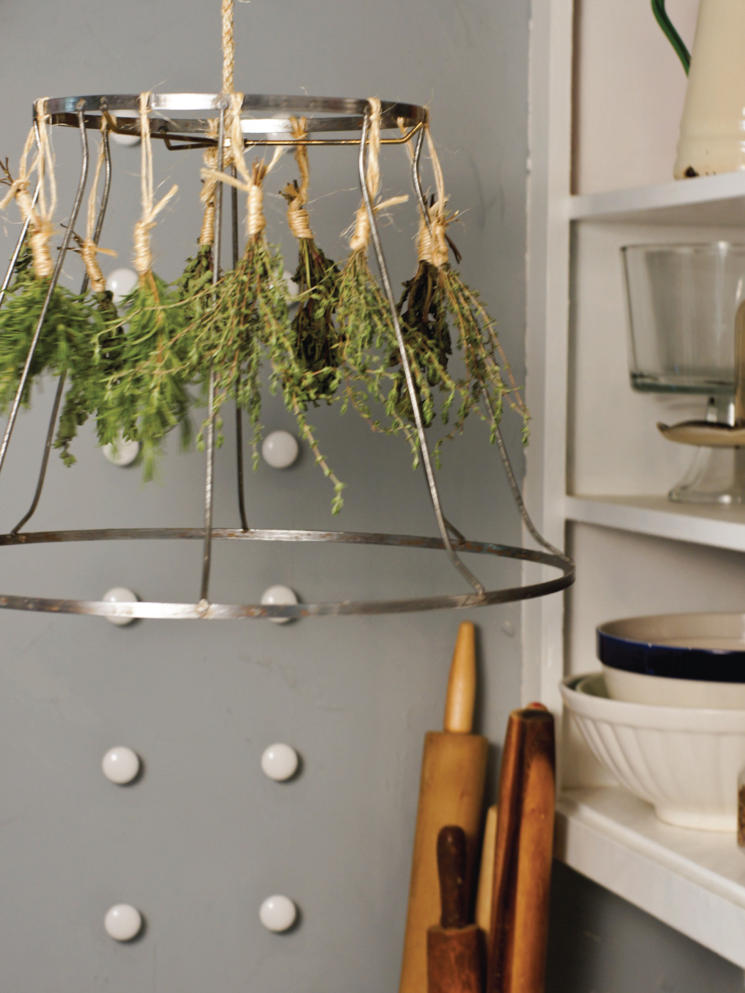 Lampshade Herb Drying Rack by Sam Henderson of Today's Nest for HGTVGardens.