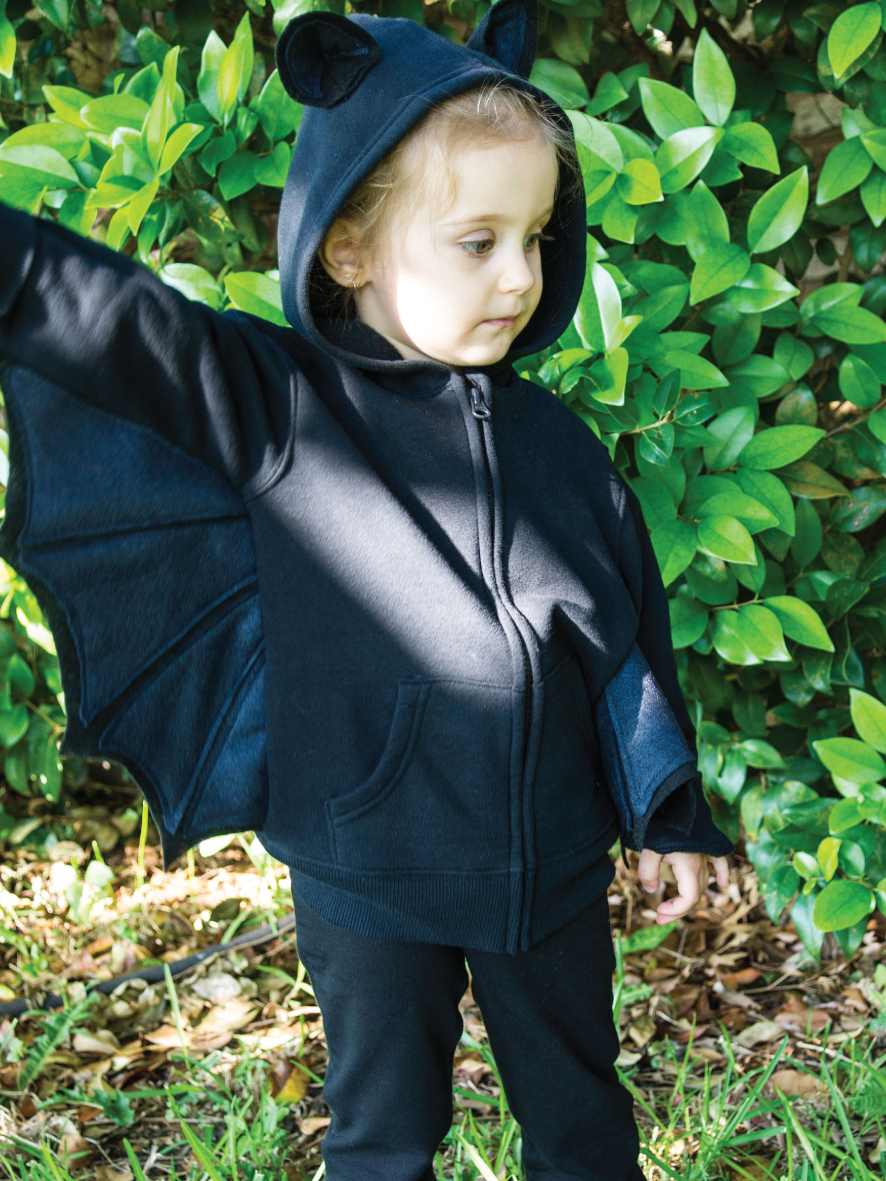 Kid's Hoodie Bat Costume by Sam Henderson of Today's Nest for HGTV