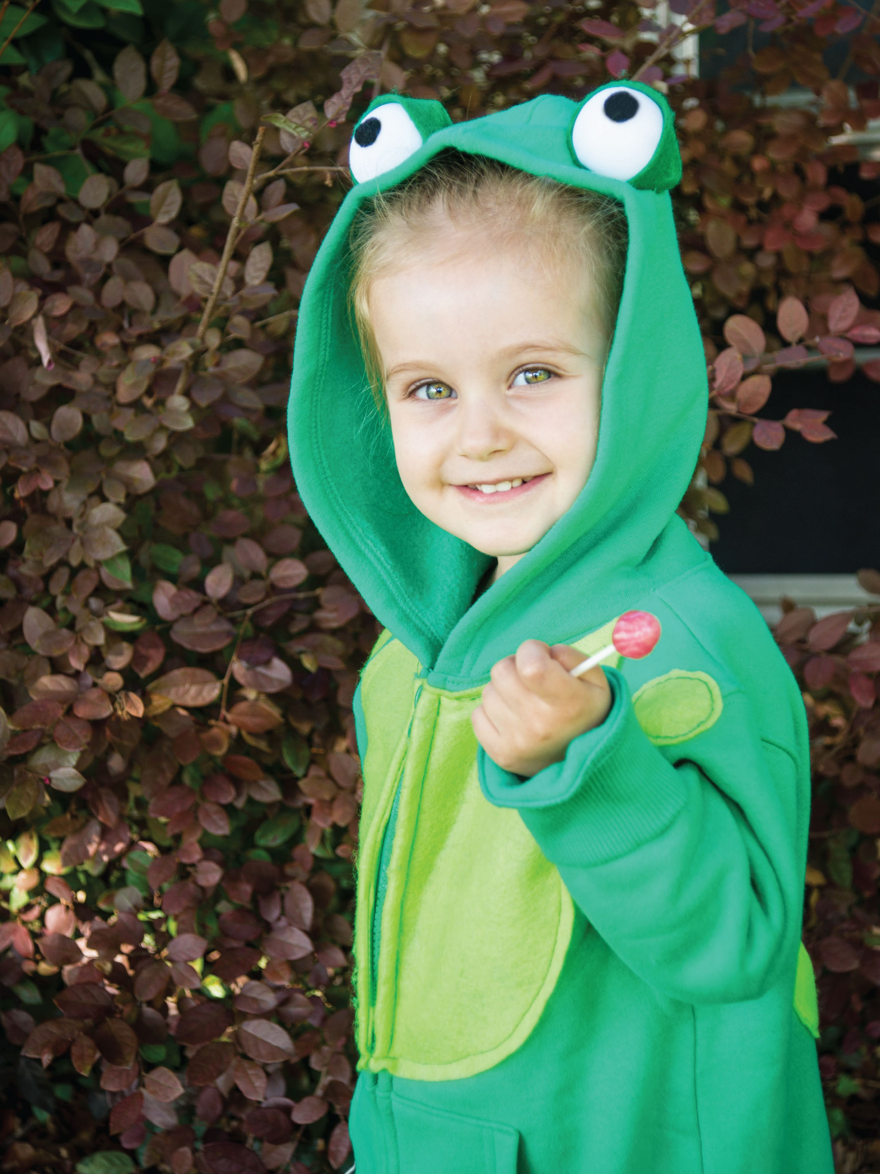 Kid's Hoodie Frog Costume by Sam Henderson of Today's Nest for HGTV
