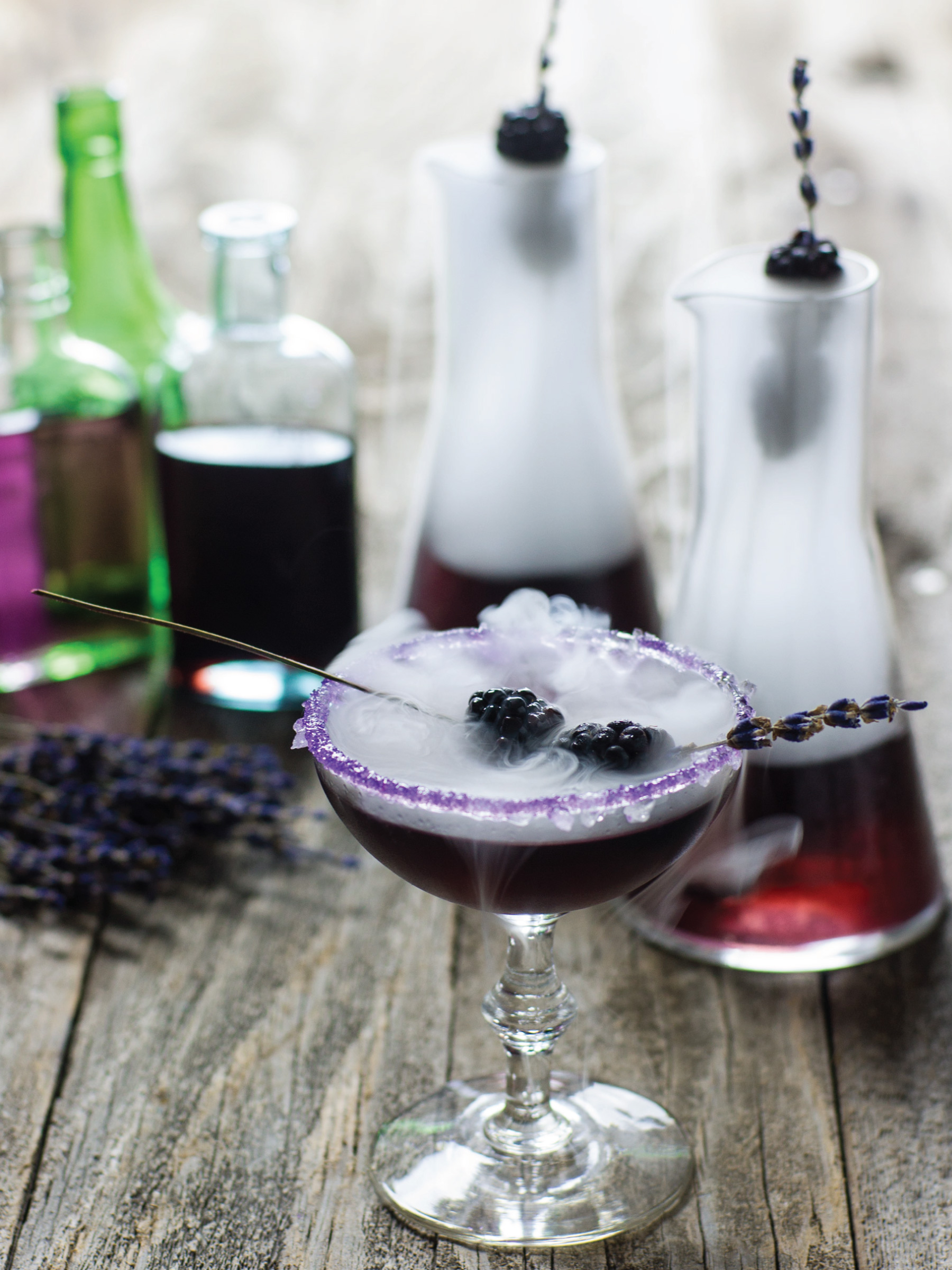 Mr Hyde Potion Cocktail by Sam Henderson of Today's Nest for HGTV