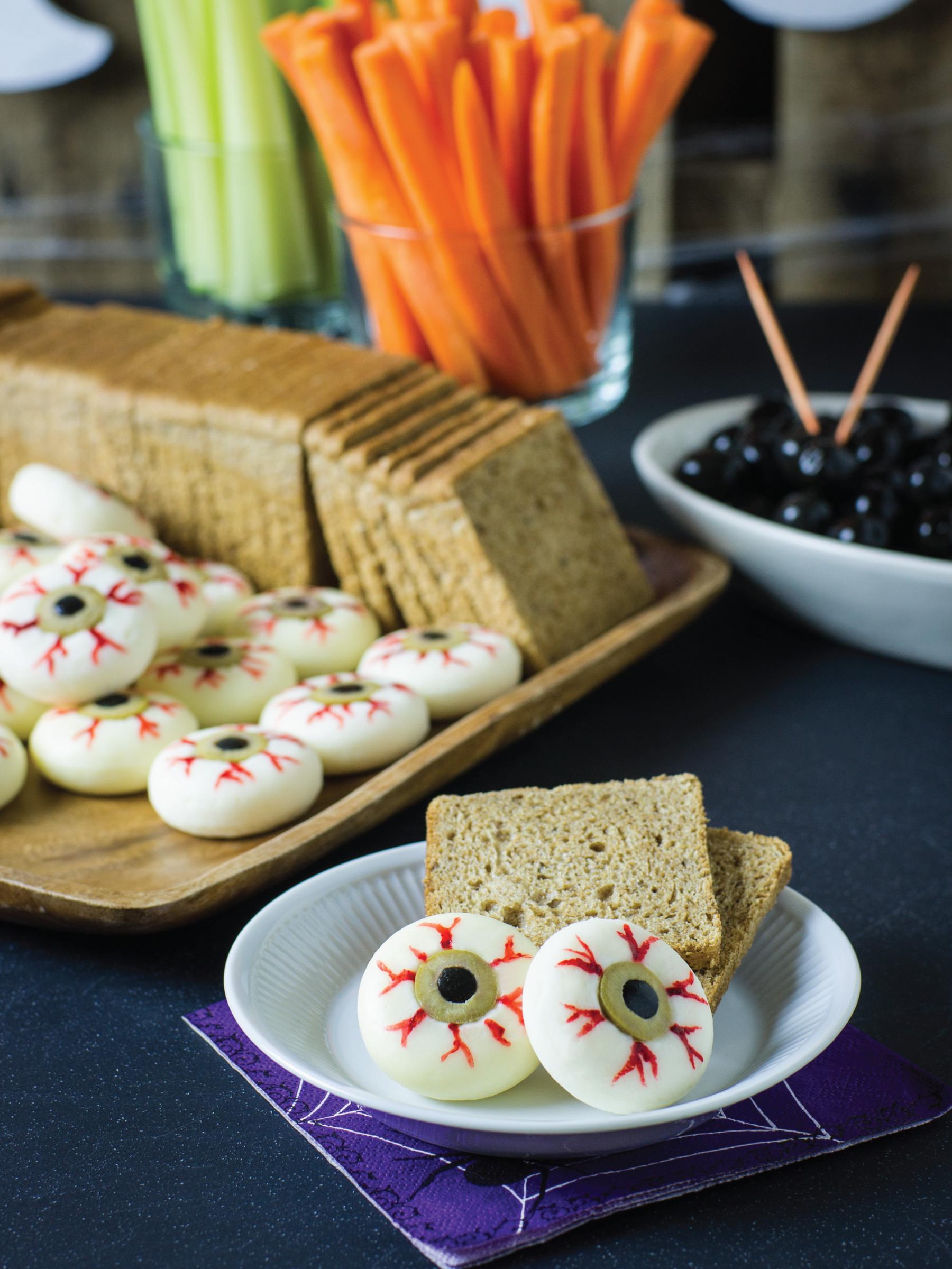 Cheesy Eyeballs by Sam Henderson of Today's Nest for HGTV
