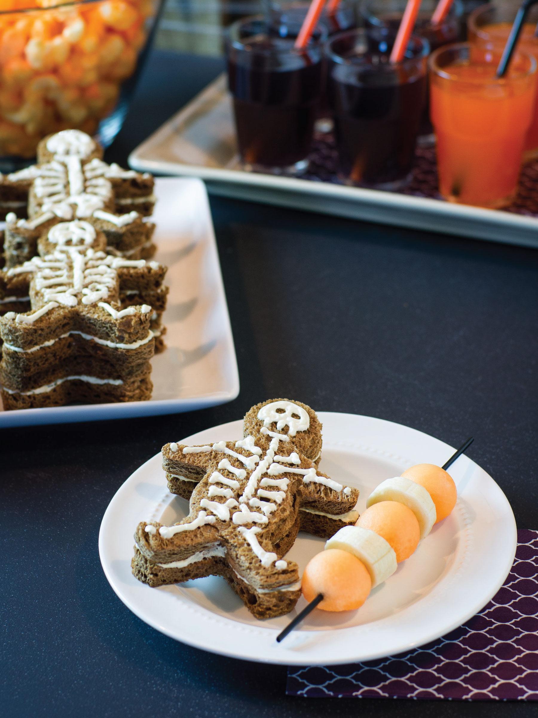 Skeleton Sandwiches by Sam Henderson of Today's Nest for HGTV