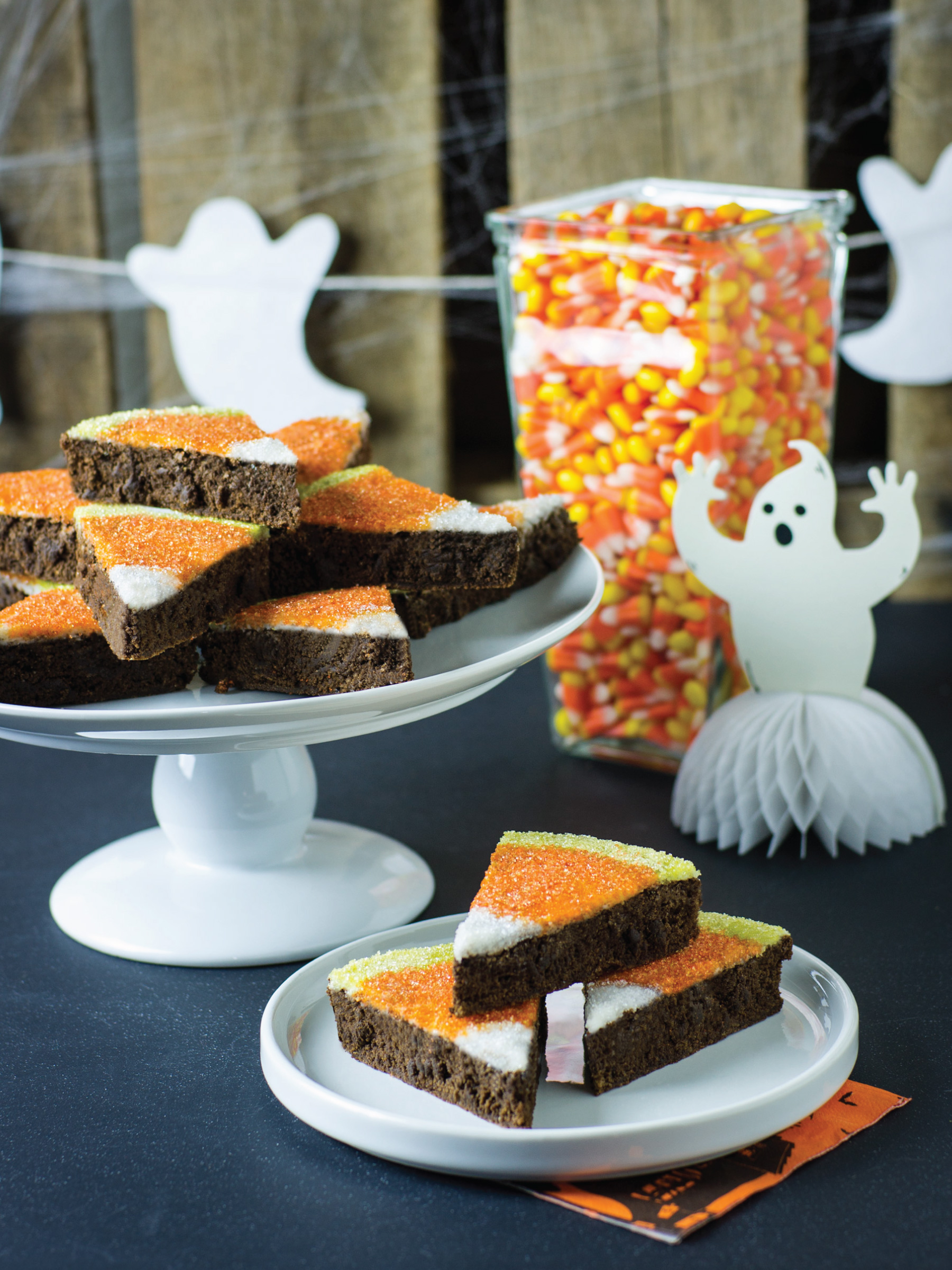Candy Corn Brownies by Sam Henderson of Today's Nest for HGTV