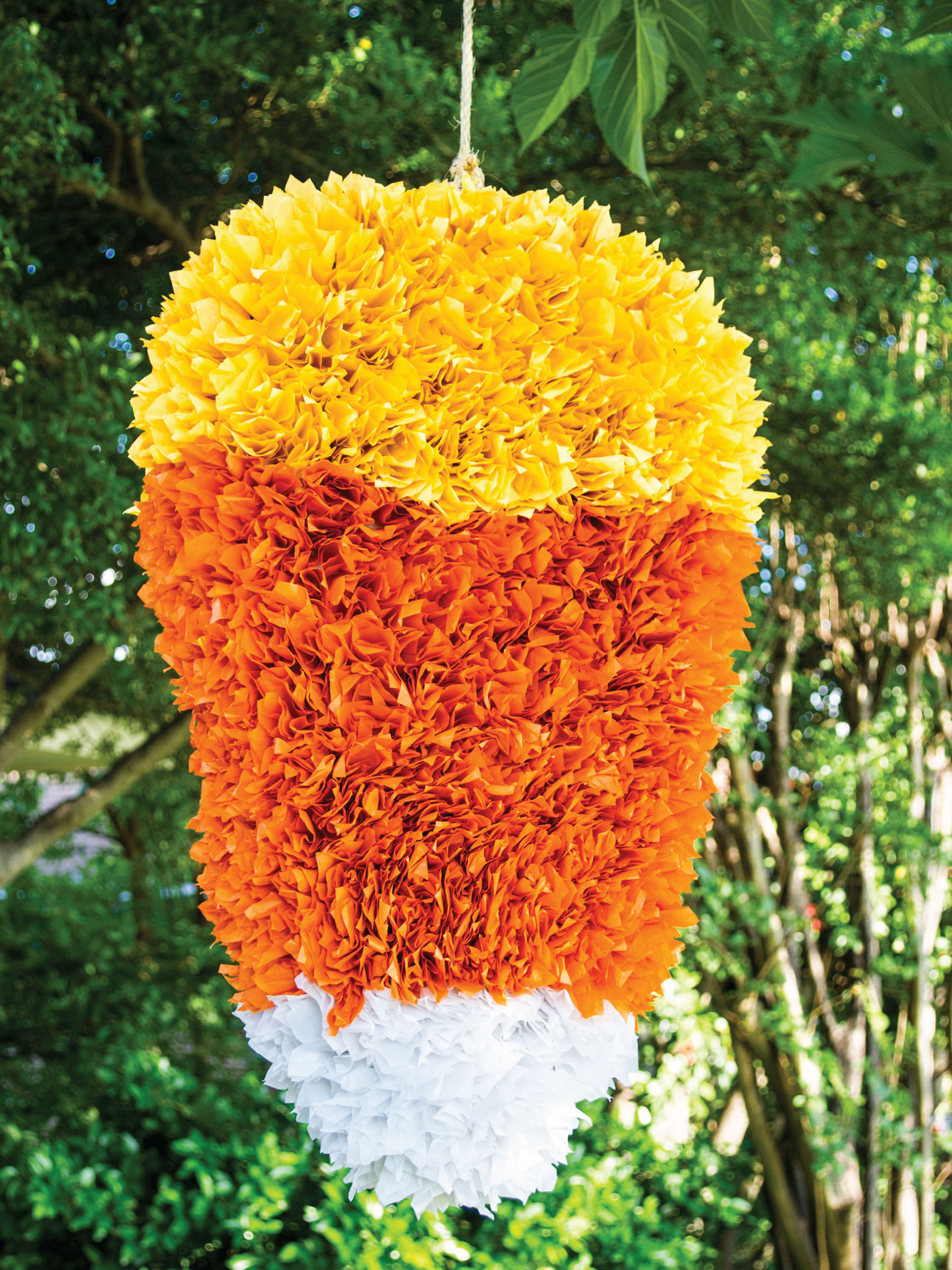 Candy Corn Piñata by Sam Henderson of Today's Nest for HGTV
