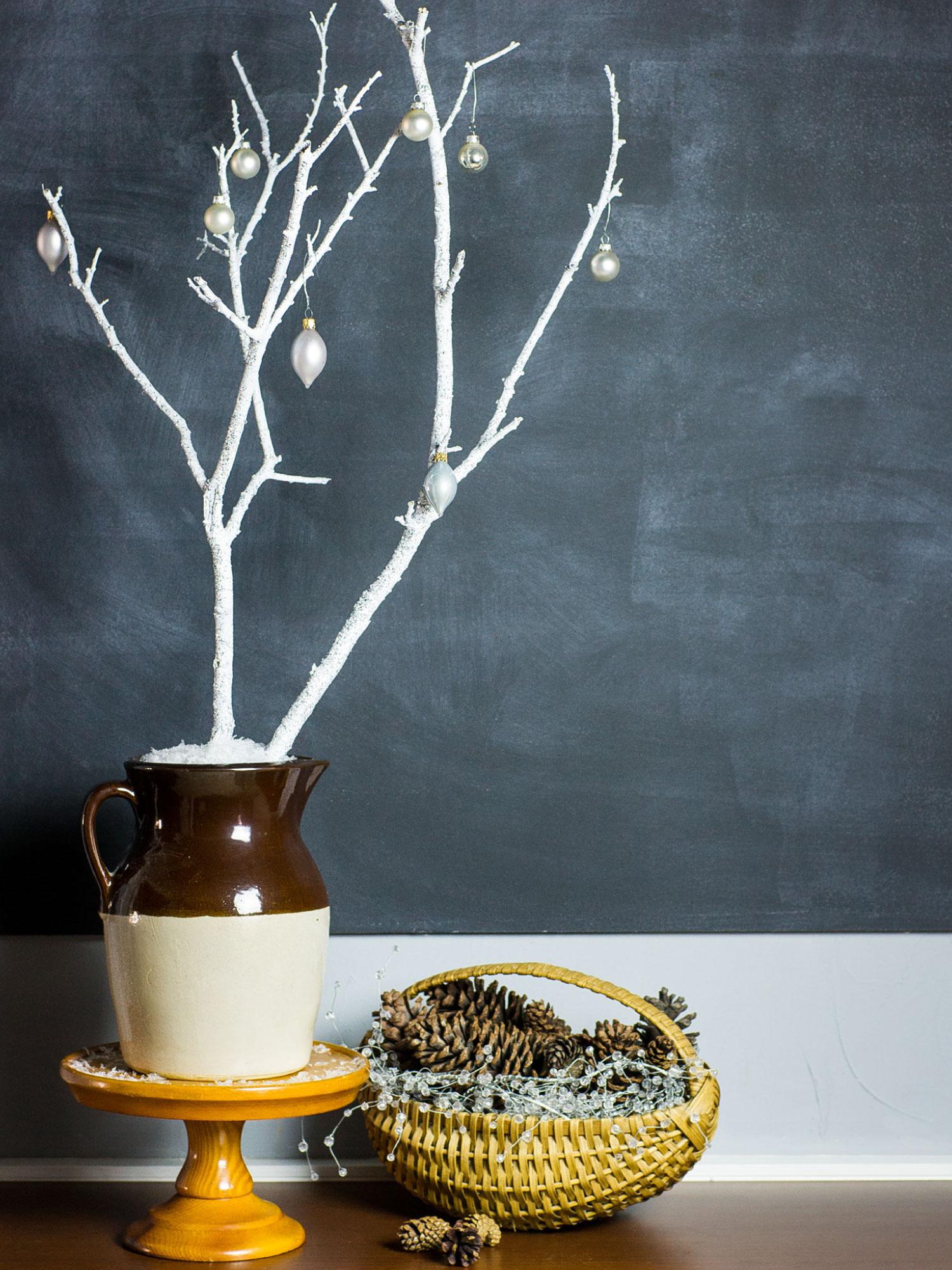 Glitter Branch Decor by Sam Henderson of Today's Nest for HGTVGardens,
