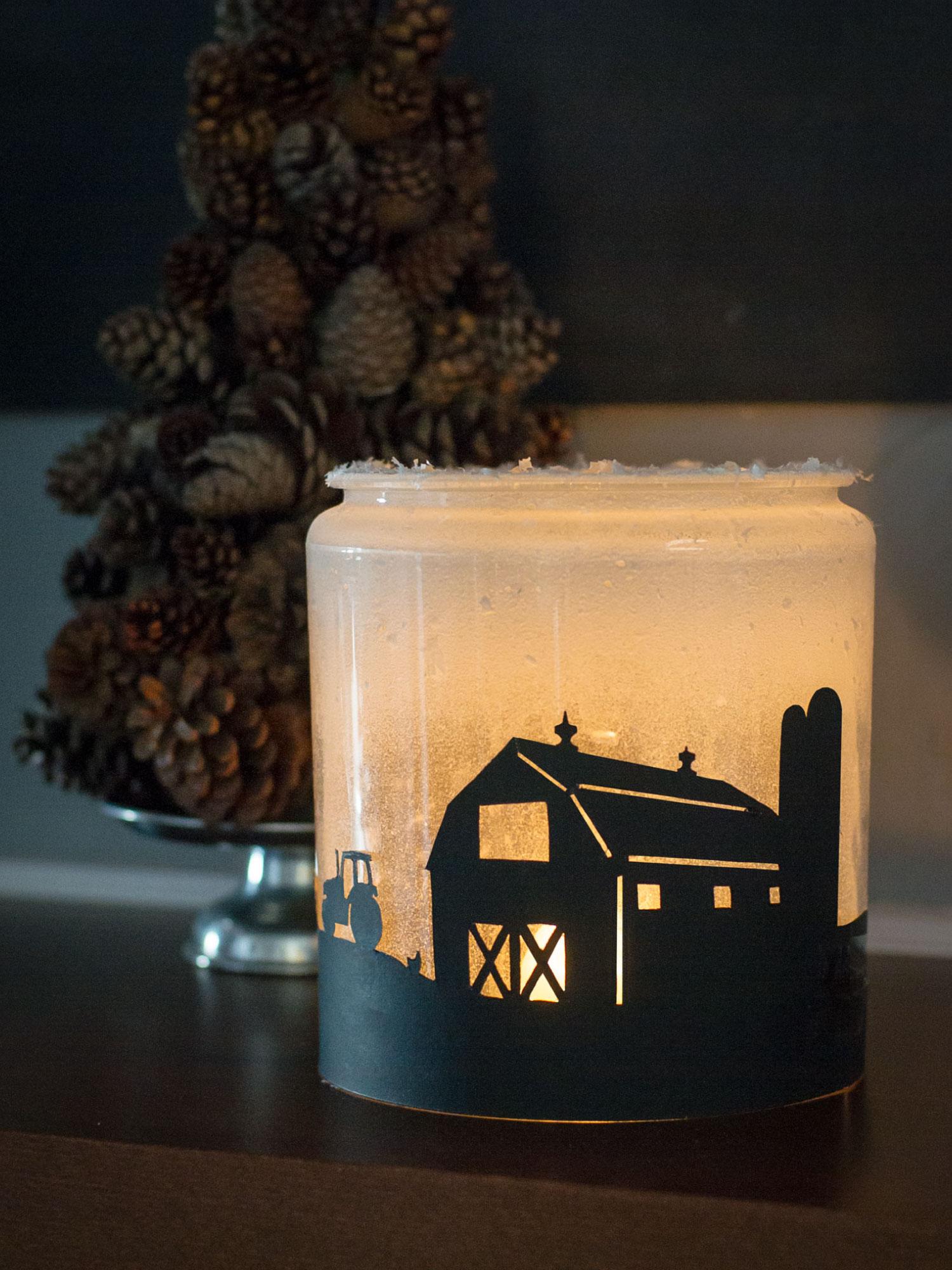 Winter Luminary Jar by Sam Henderson of Today's Nest for HGTVGardens.