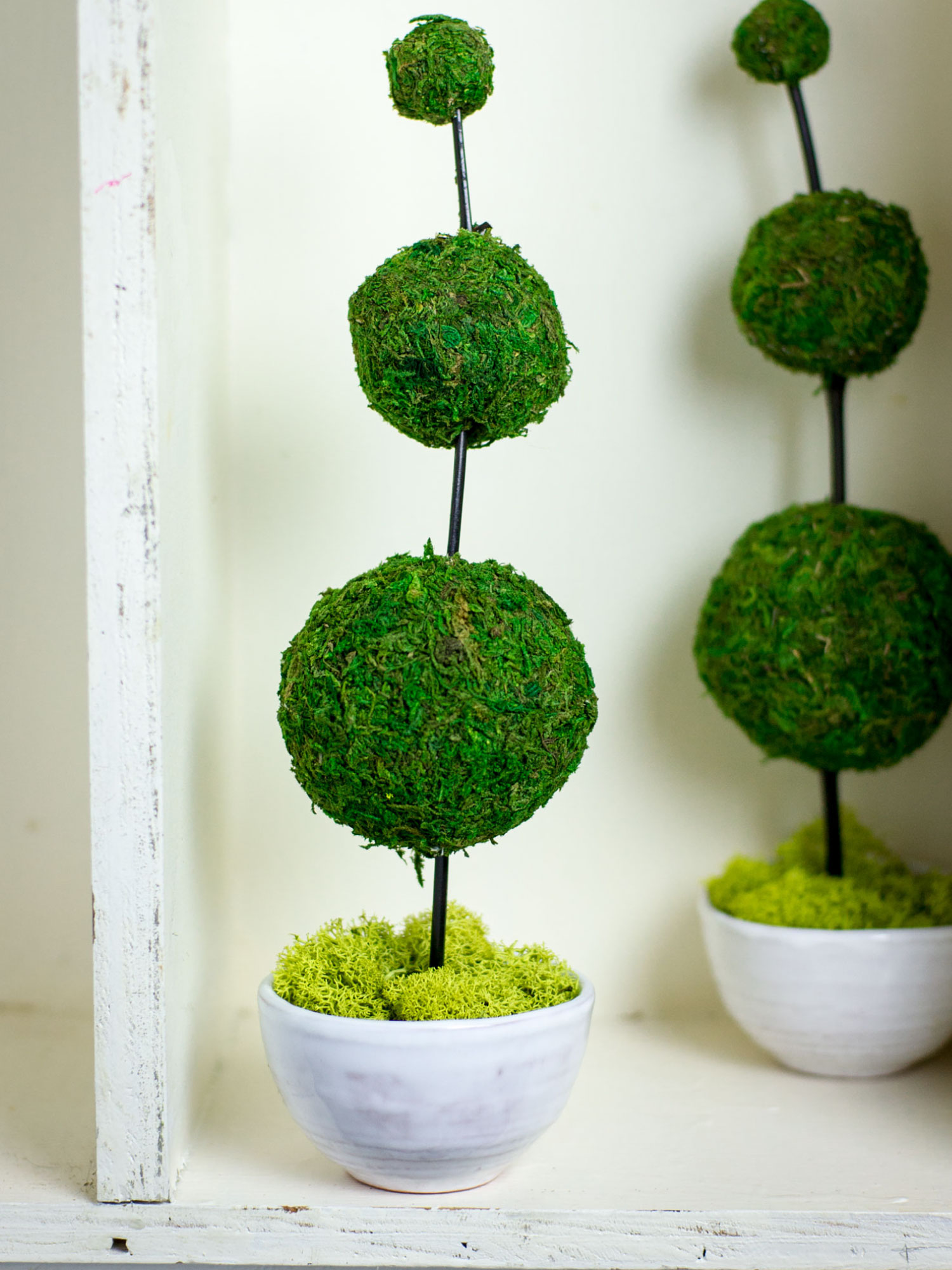 Decorating with DIY Moss Balls by Sam Henderson of Today's Nest for HGTVGardens.